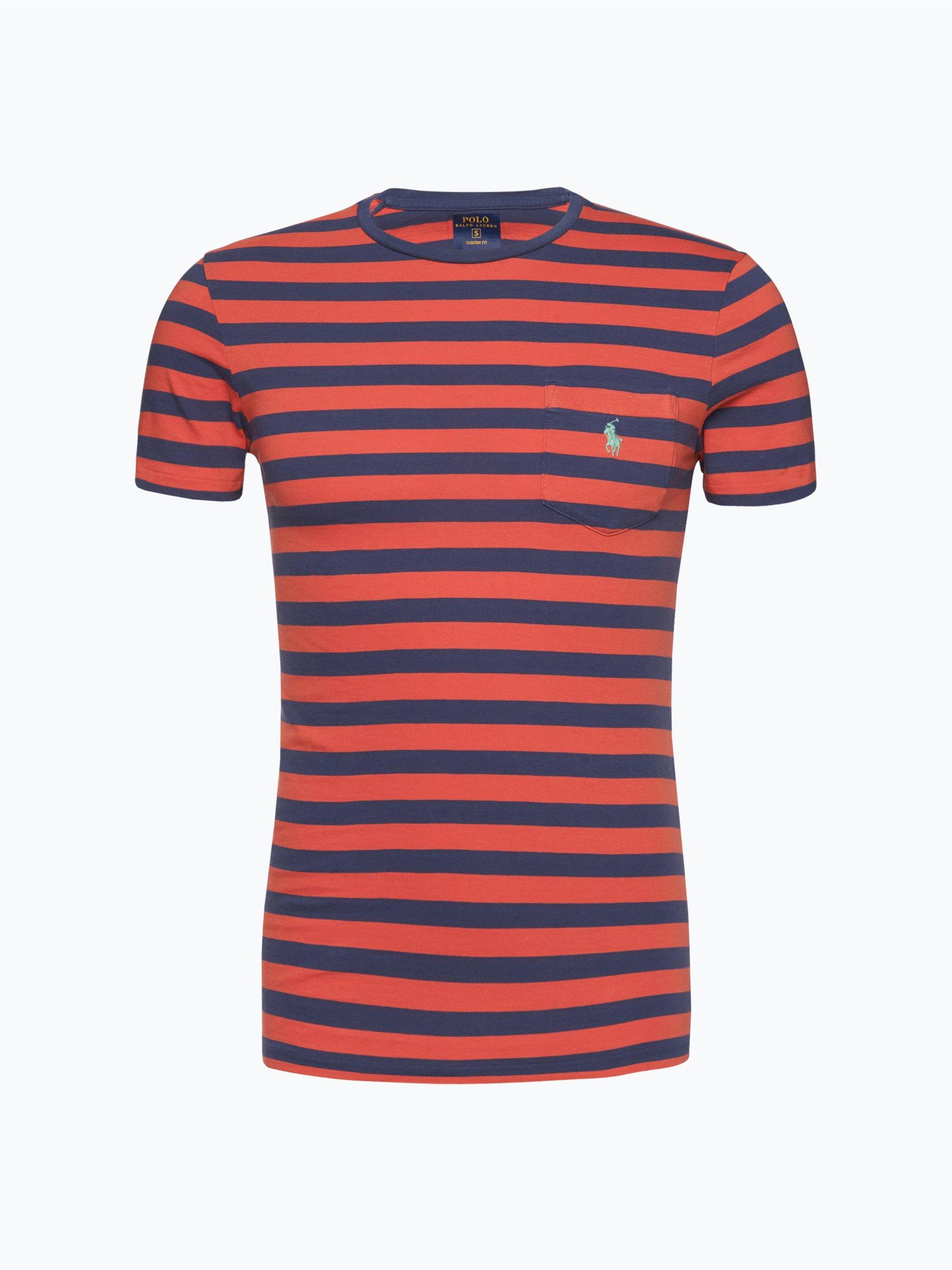 polo ralph lauren herren t shirt rot gestreift online kaufen vangraaf com. Black Bedroom Furniture Sets. Home Design Ideas