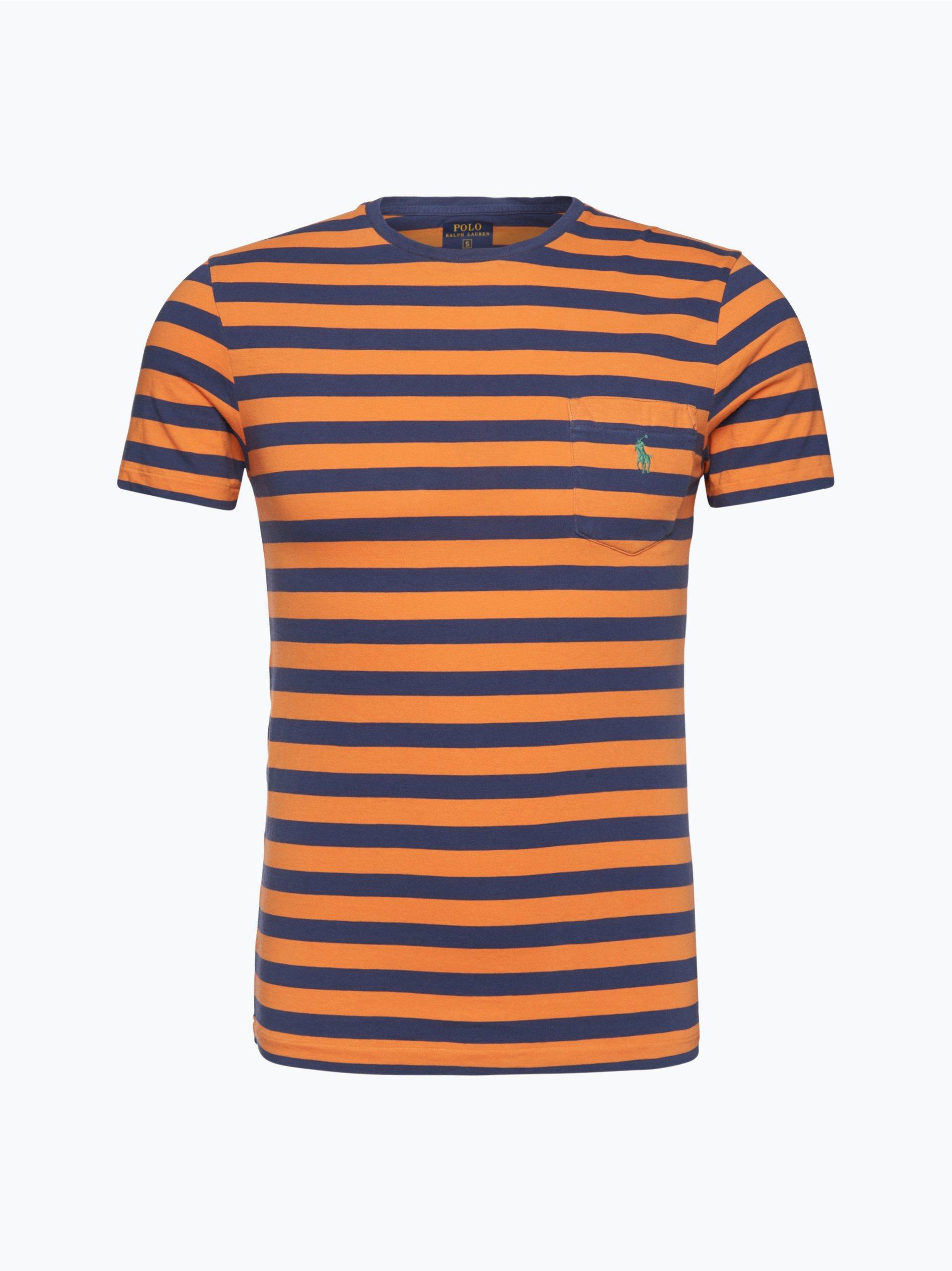 polo ralph lauren herren t shirt orange gestreift online kaufen vangraaf com. Black Bedroom Furniture Sets. Home Design Ideas