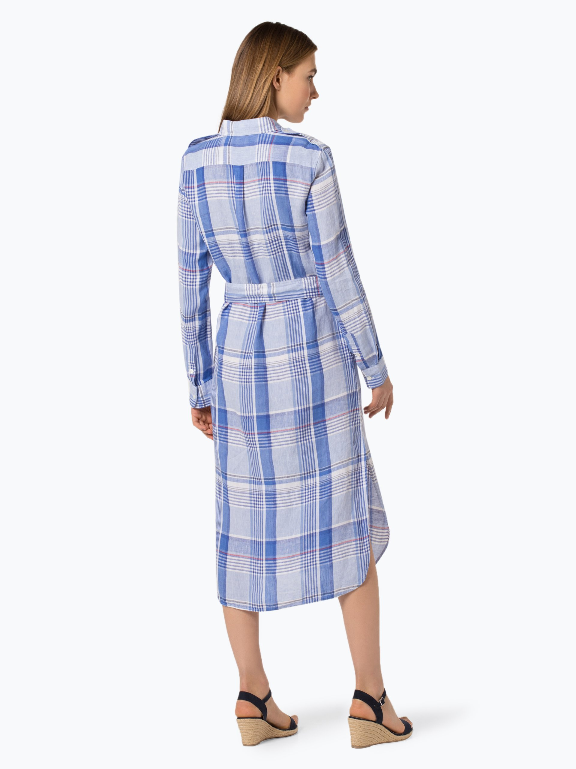 Polo Ralph Lauren Sukienka damska z mieszanki lnu