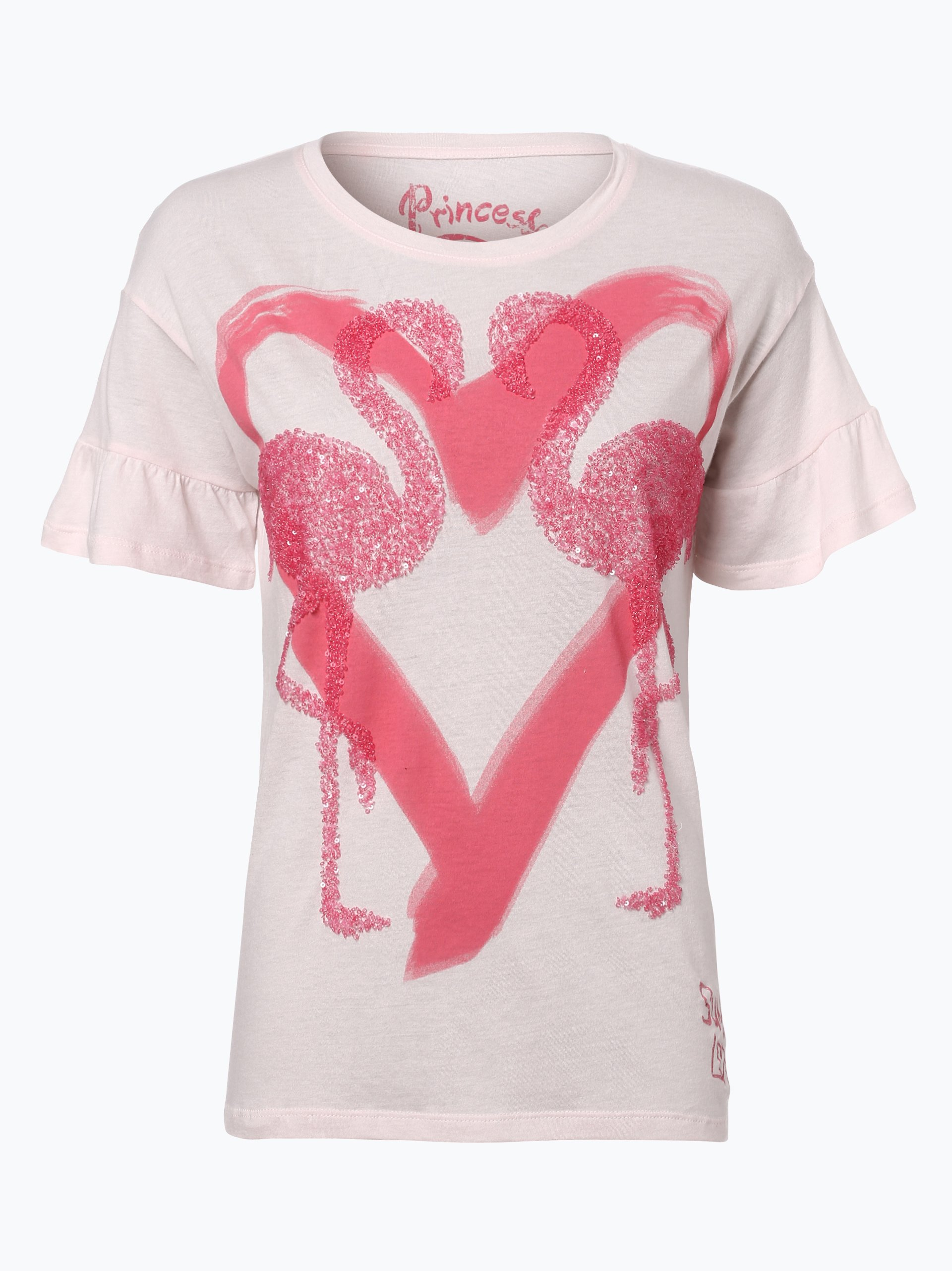 princess goes hollywood damen t shirt rosa gemustert. Black Bedroom Furniture Sets. Home Design Ideas