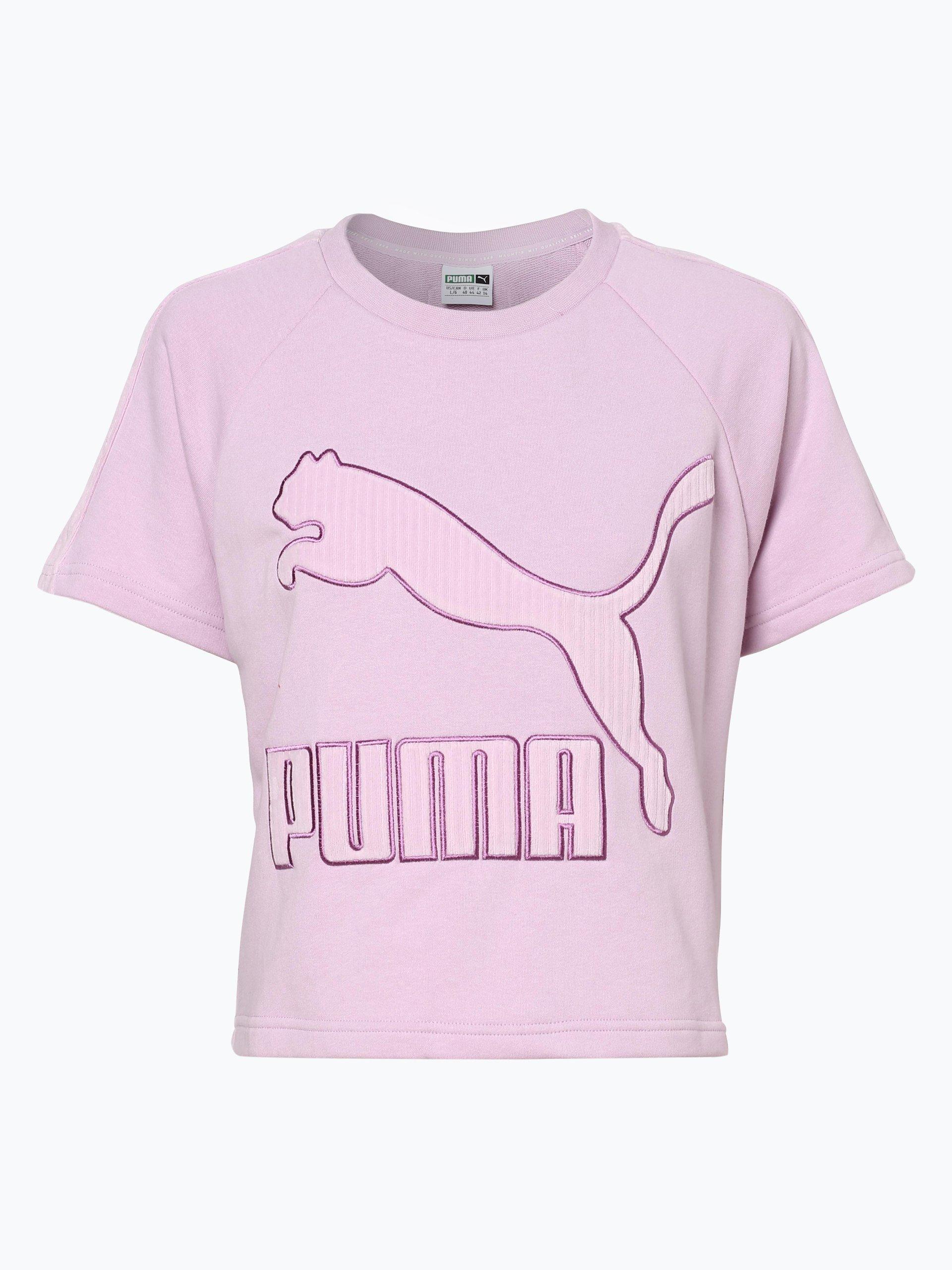 puma damen t shirt flieder bedruckt online kaufen vangraaf com. Black Bedroom Furniture Sets. Home Design Ideas