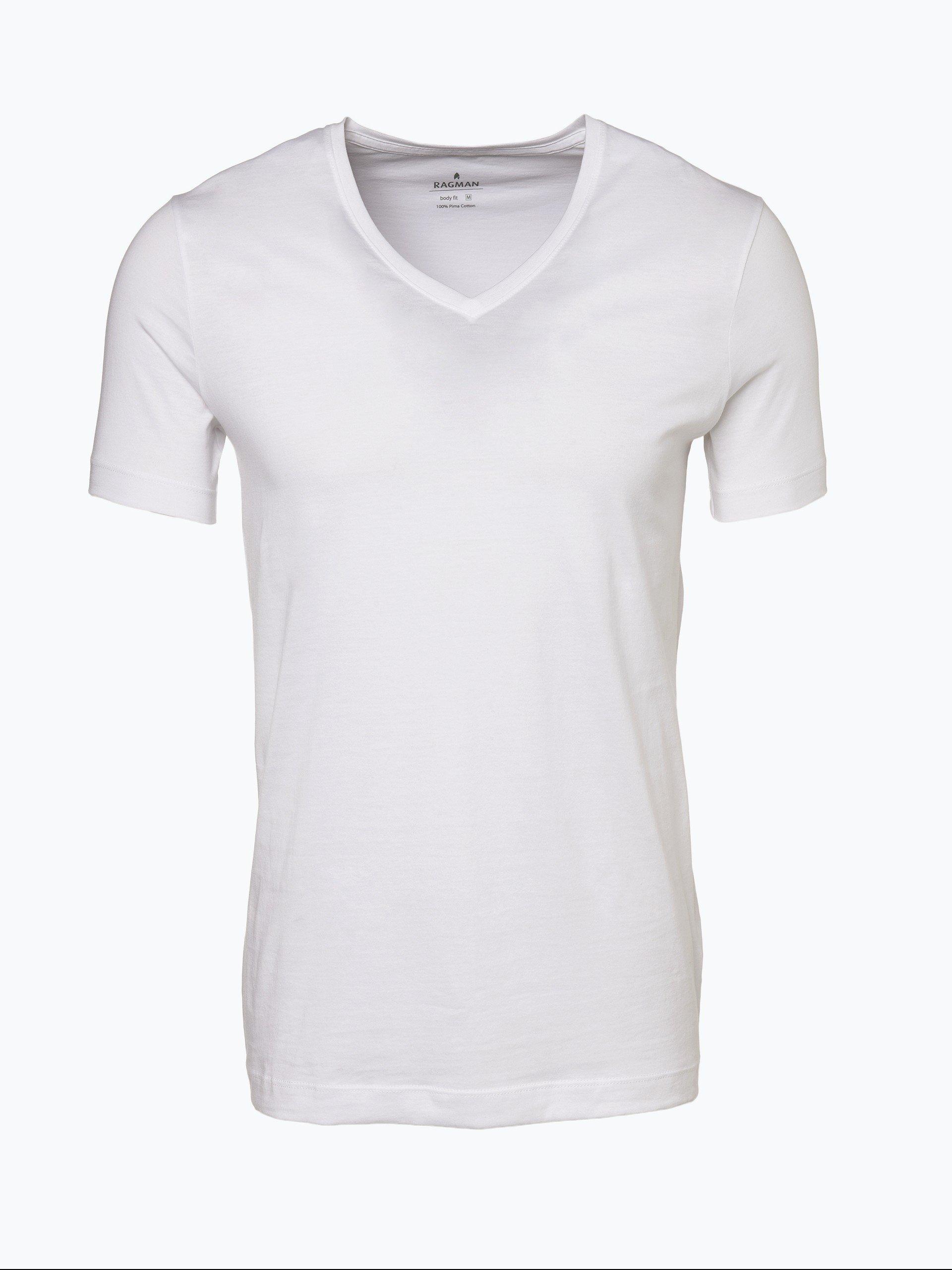 Ragman T-shirty męskie pakowane po 2 szt.