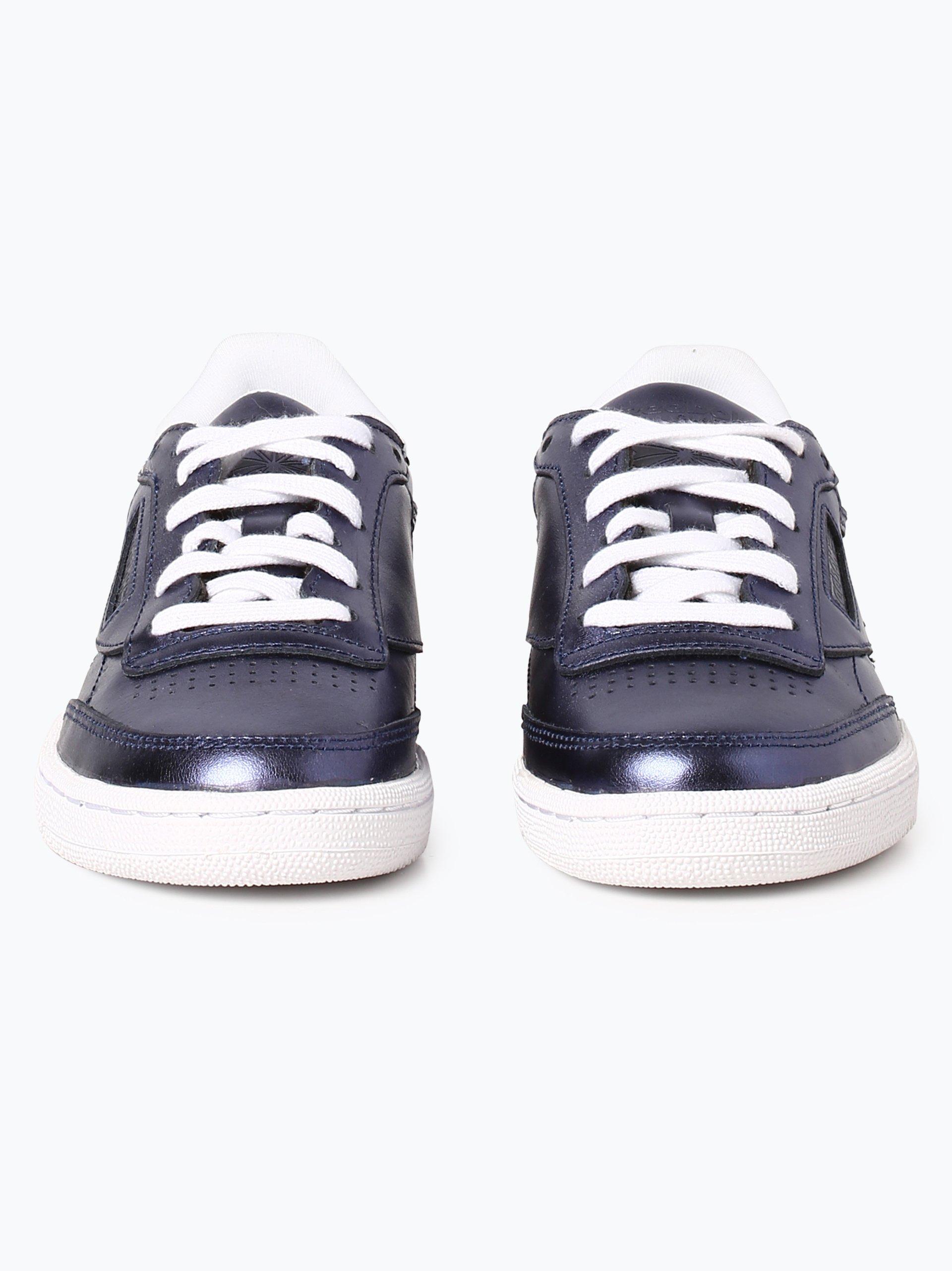 reebok damen sneaker aus leder blau uni online kaufen vangraaf com. Black Bedroom Furniture Sets. Home Design Ideas
