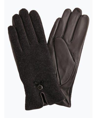 Rękawiczki damskie z dodatkiem skóry