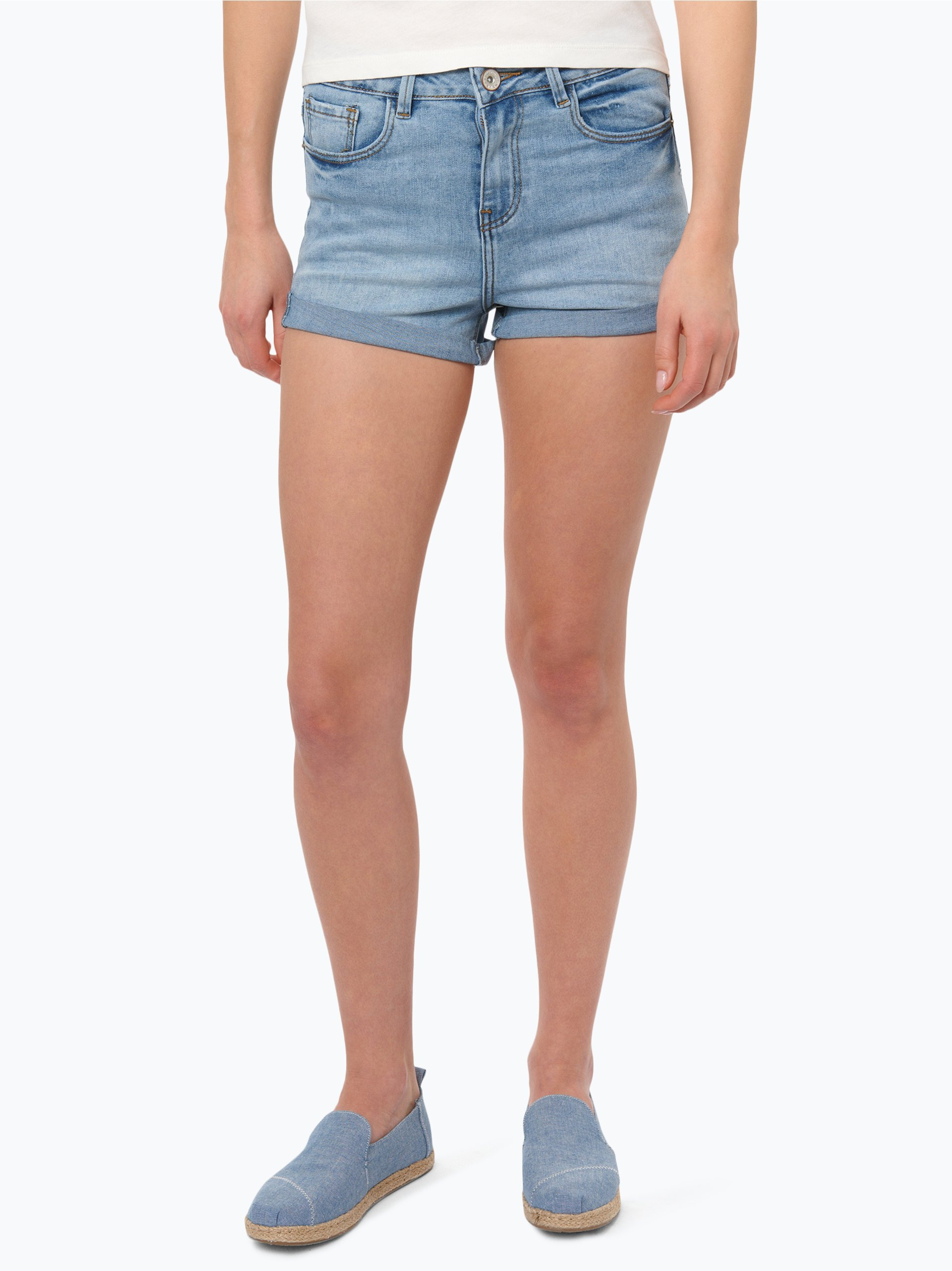 review damen jeans shorts blau uni online kaufen vangraaf com. Black Bedroom Furniture Sets. Home Design Ideas