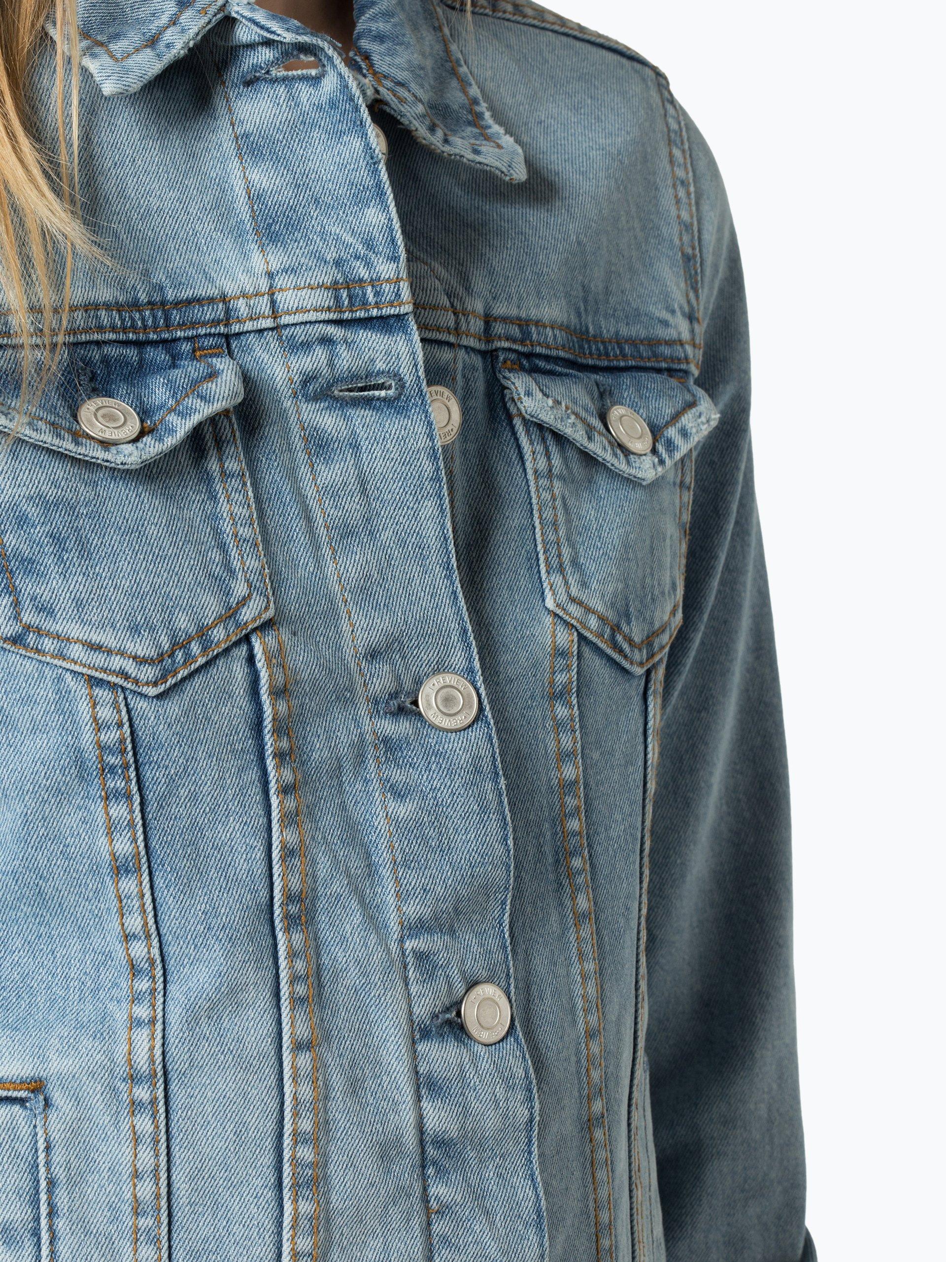 review damen jeansjacke hellblau uni online kaufen vangraaf com. Black Bedroom Furniture Sets. Home Design Ideas