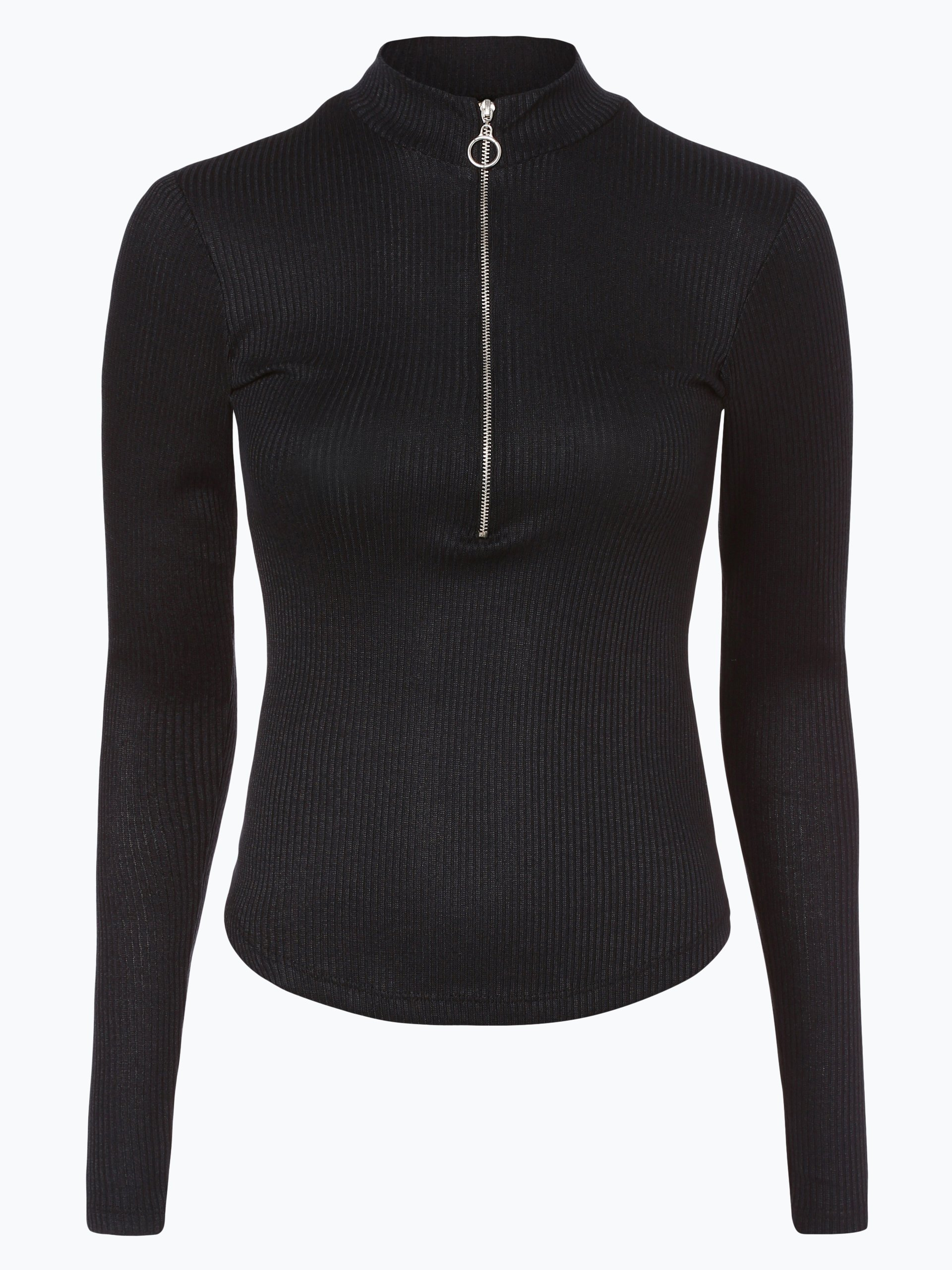 review damen langarmshirt schwarz uni online kaufen. Black Bedroom Furniture Sets. Home Design Ideas