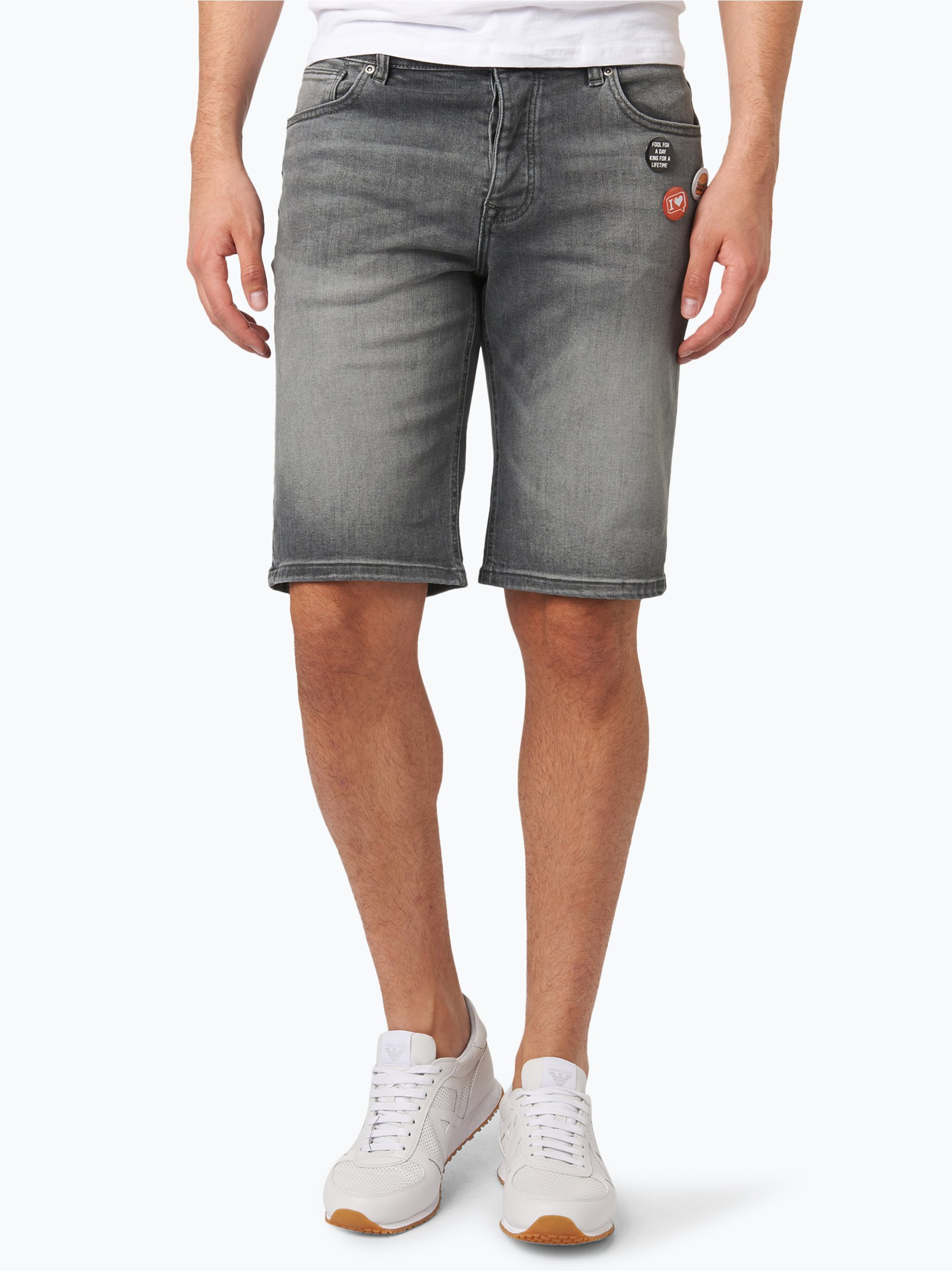 review herren jeans bermuda grau uni online kaufen peek und cloppenburg de. Black Bedroom Furniture Sets. Home Design Ideas