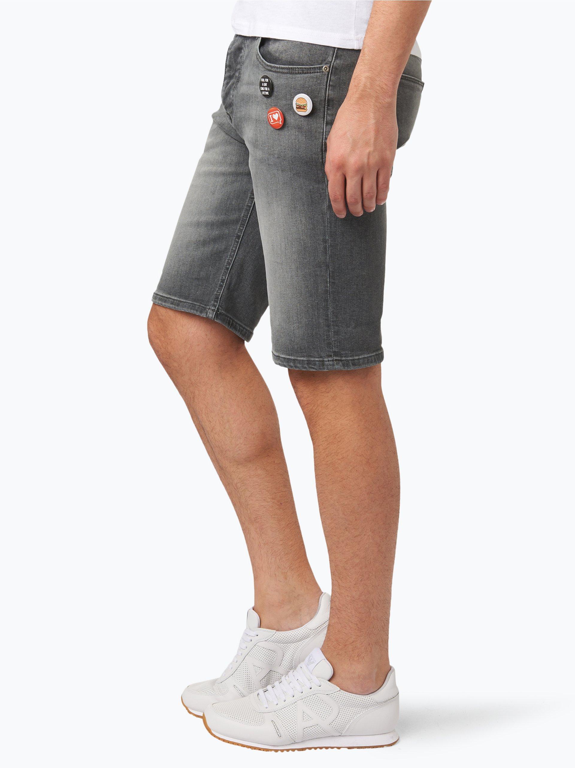 review herren jeans bermuda grau uni online kaufen. Black Bedroom Furniture Sets. Home Design Ideas