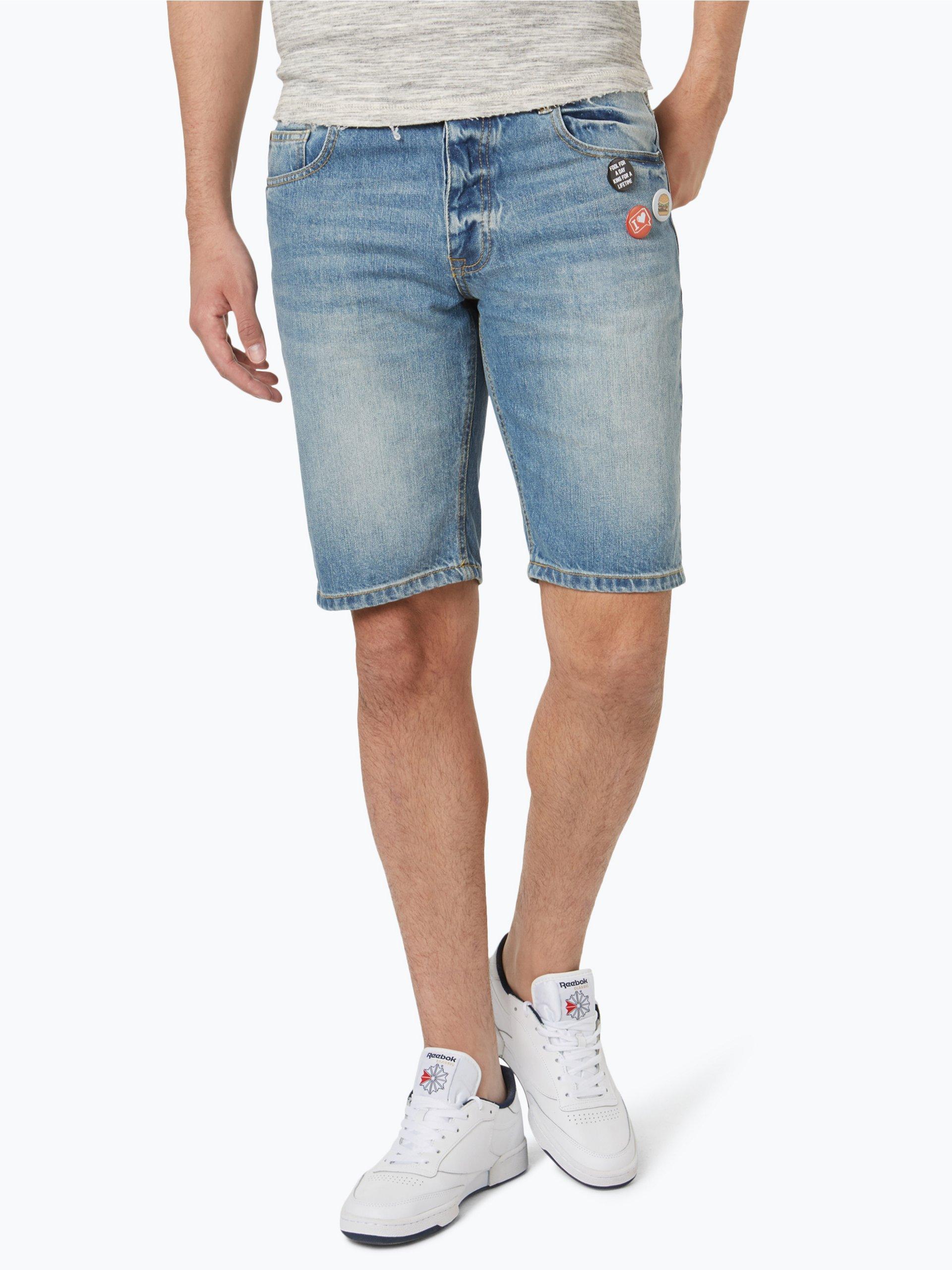 review herren jeans bermuda indigo uni online kaufen vangraaf com. Black Bedroom Furniture Sets. Home Design Ideas