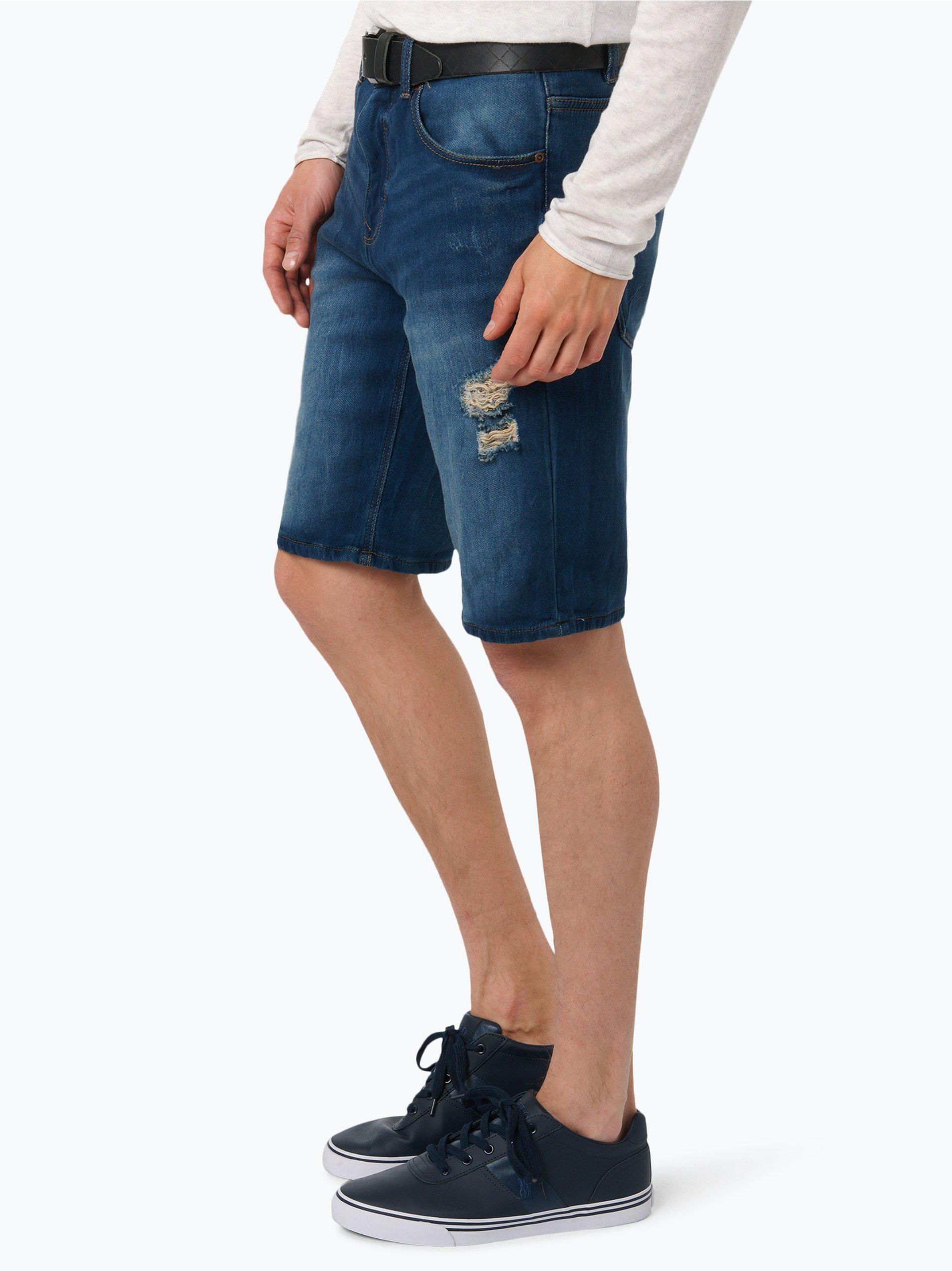 review herren jeans bermuda hellblau blau uni online kaufen vangraaf com. Black Bedroom Furniture Sets. Home Design Ideas