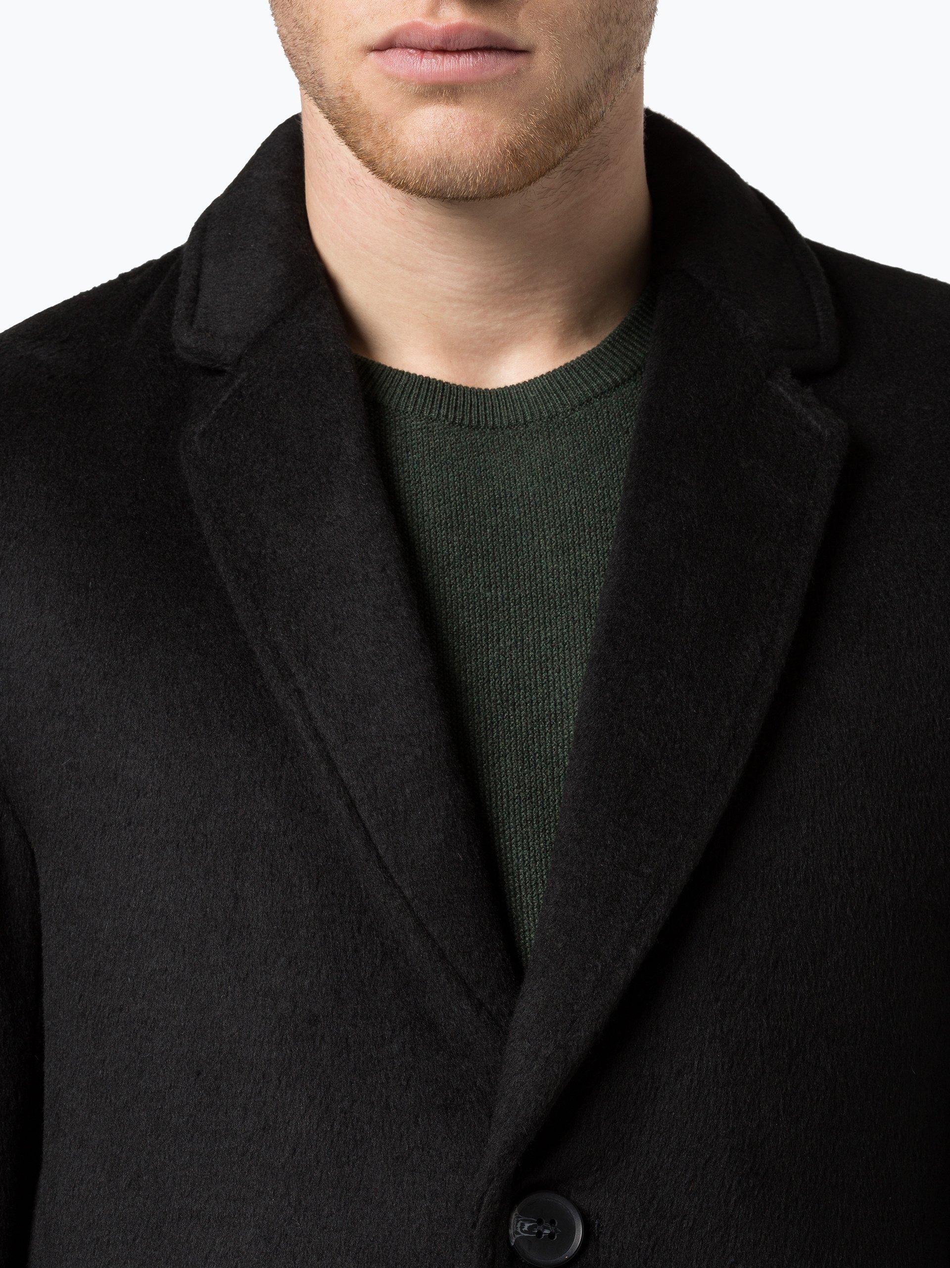 review herren mantel schwarz uni online kaufen peek und. Black Bedroom Furniture Sets. Home Design Ideas