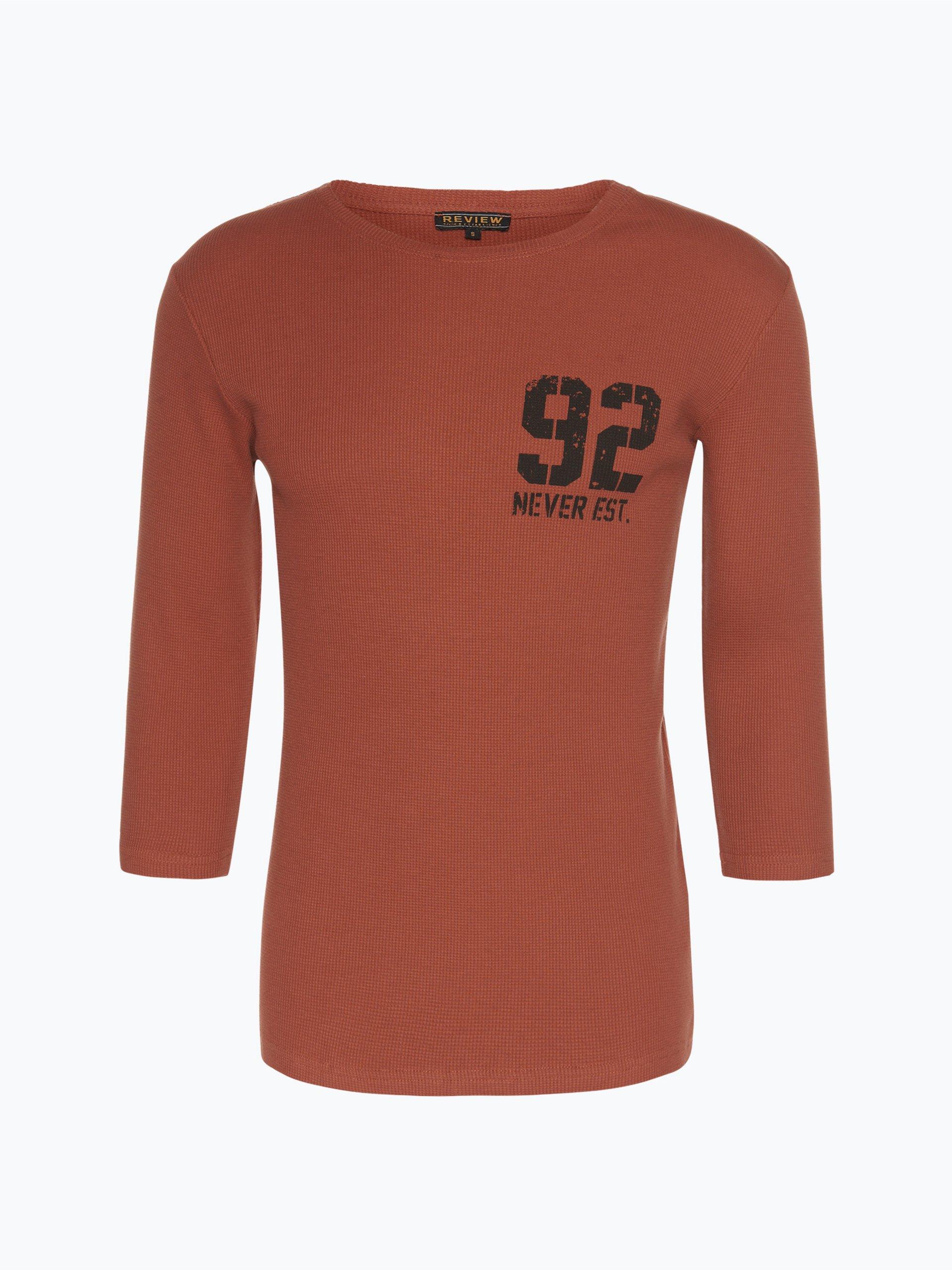 review herren shirt rot gemustert online kaufen vangraaf com. Black Bedroom Furniture Sets. Home Design Ideas