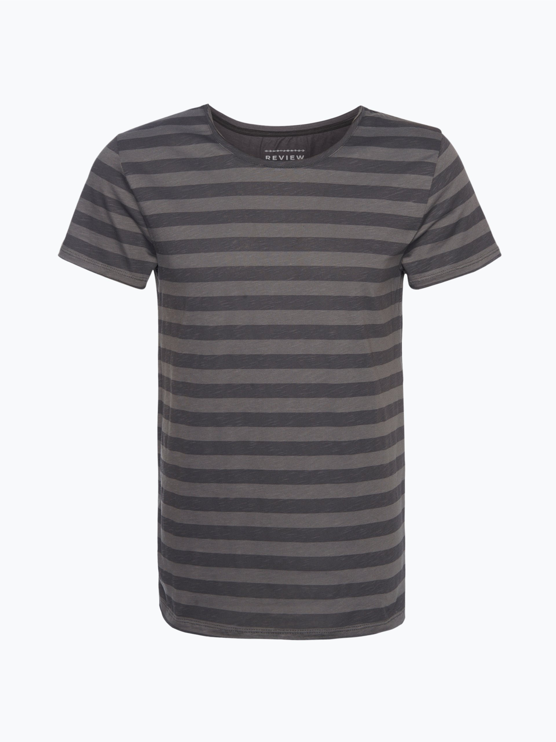 review herren t shirt grau gestreift online kaufen peek. Black Bedroom Furniture Sets. Home Design Ideas