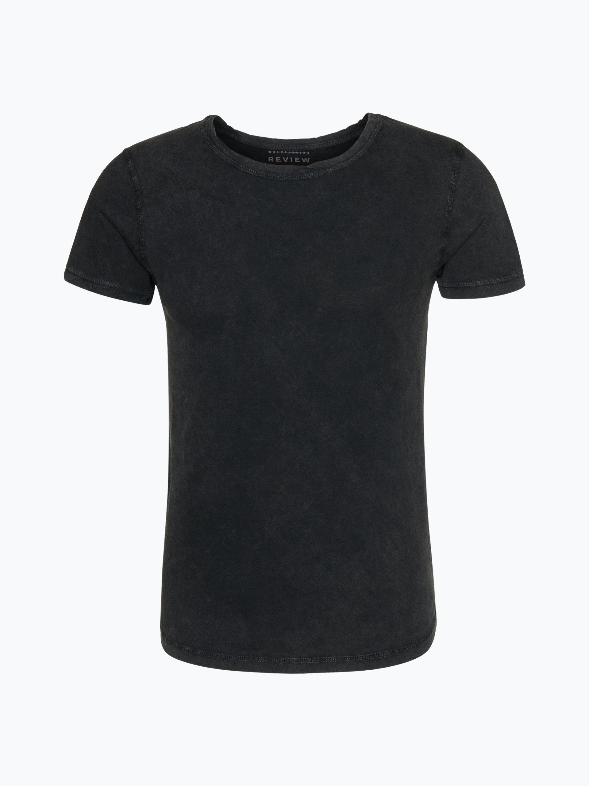 review herren t shirt schwarz uni online kaufen peek und. Black Bedroom Furniture Sets. Home Design Ideas
