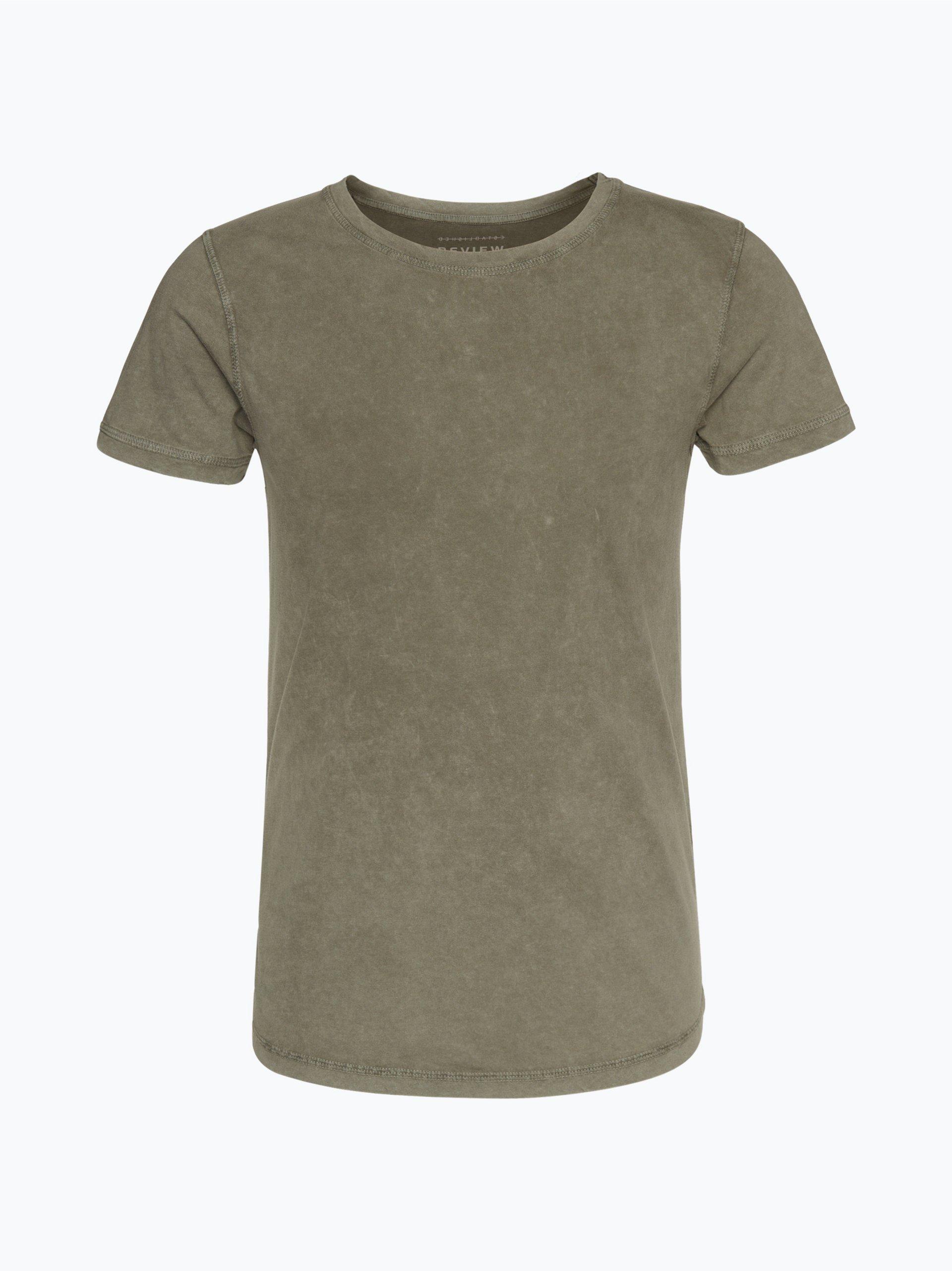 review herren t shirt oliv uni online kaufen peek und. Black Bedroom Furniture Sets. Home Design Ideas