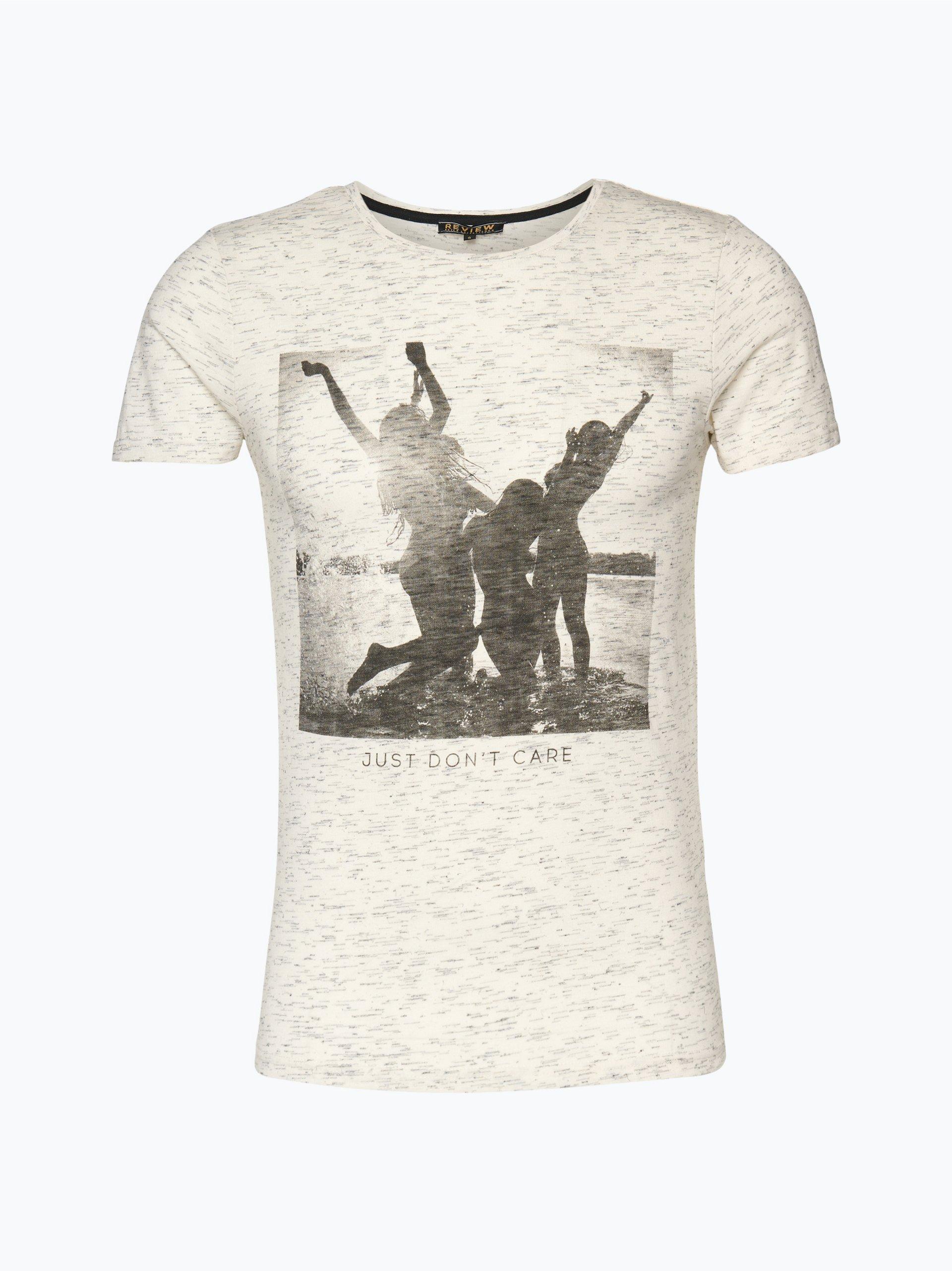 review herren t shirt wei gemustert online kaufen peek und cloppenburg de. Black Bedroom Furniture Sets. Home Design Ideas