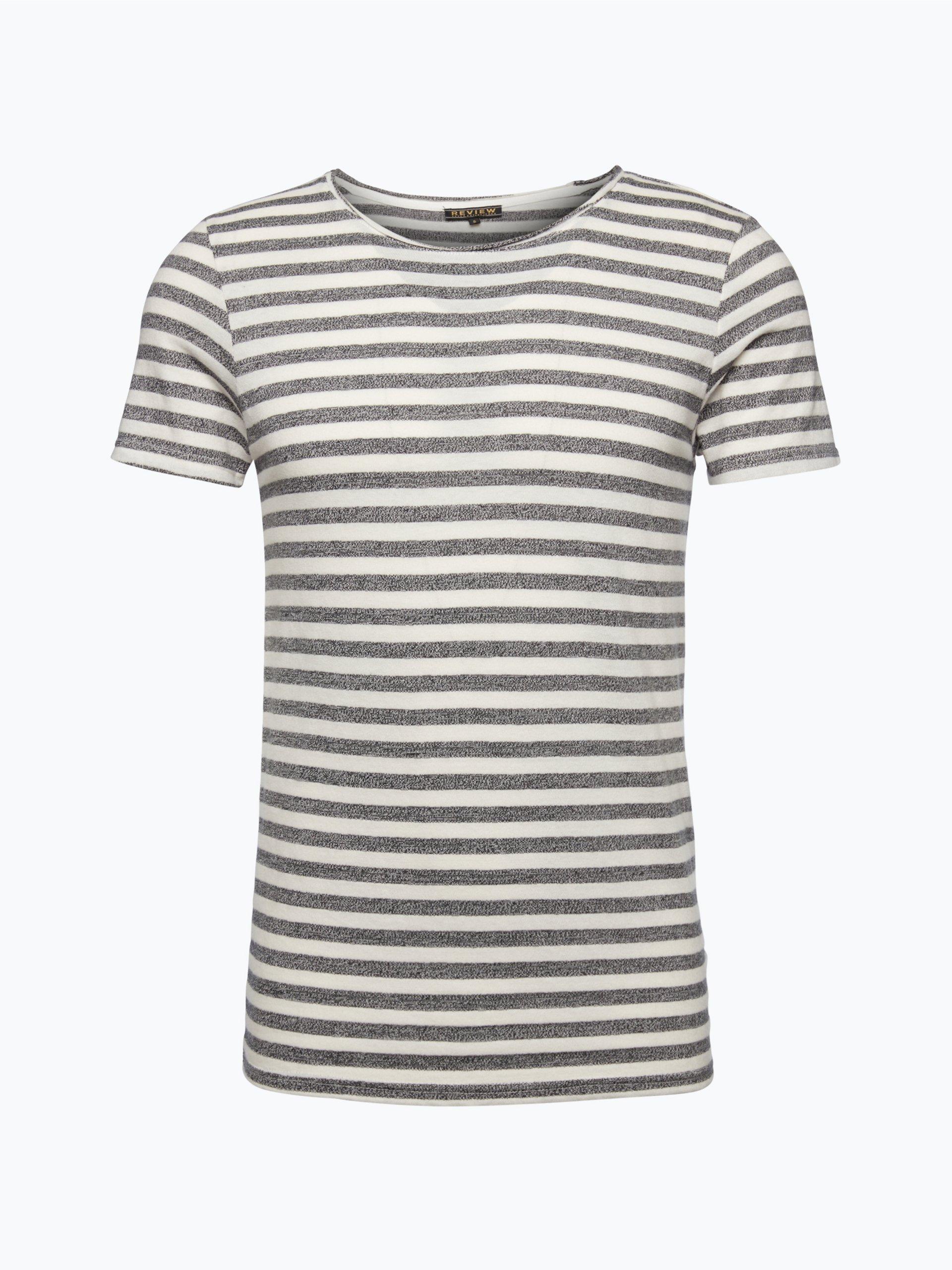 review herren t shirt schwarz gestreift online kaufen. Black Bedroom Furniture Sets. Home Design Ideas