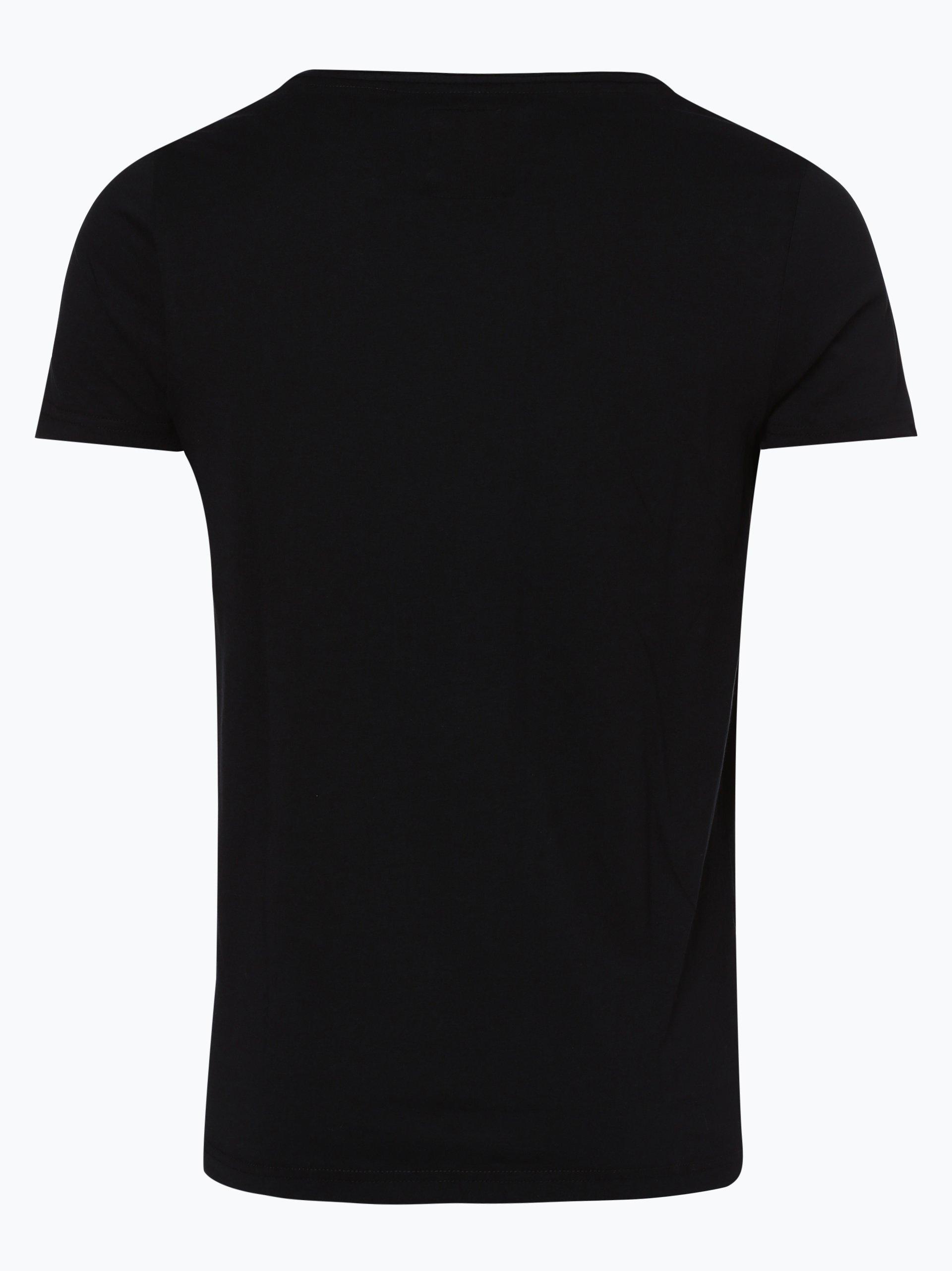 review herren t shirt schwarz uni online kaufen vangraaf com. Black Bedroom Furniture Sets. Home Design Ideas