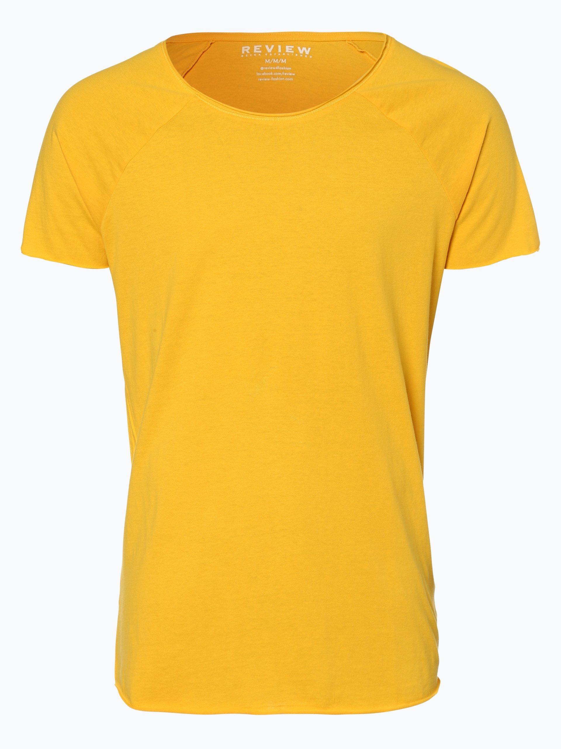 review herren t shirt gelb gemustert online kaufen peek. Black Bedroom Furniture Sets. Home Design Ideas