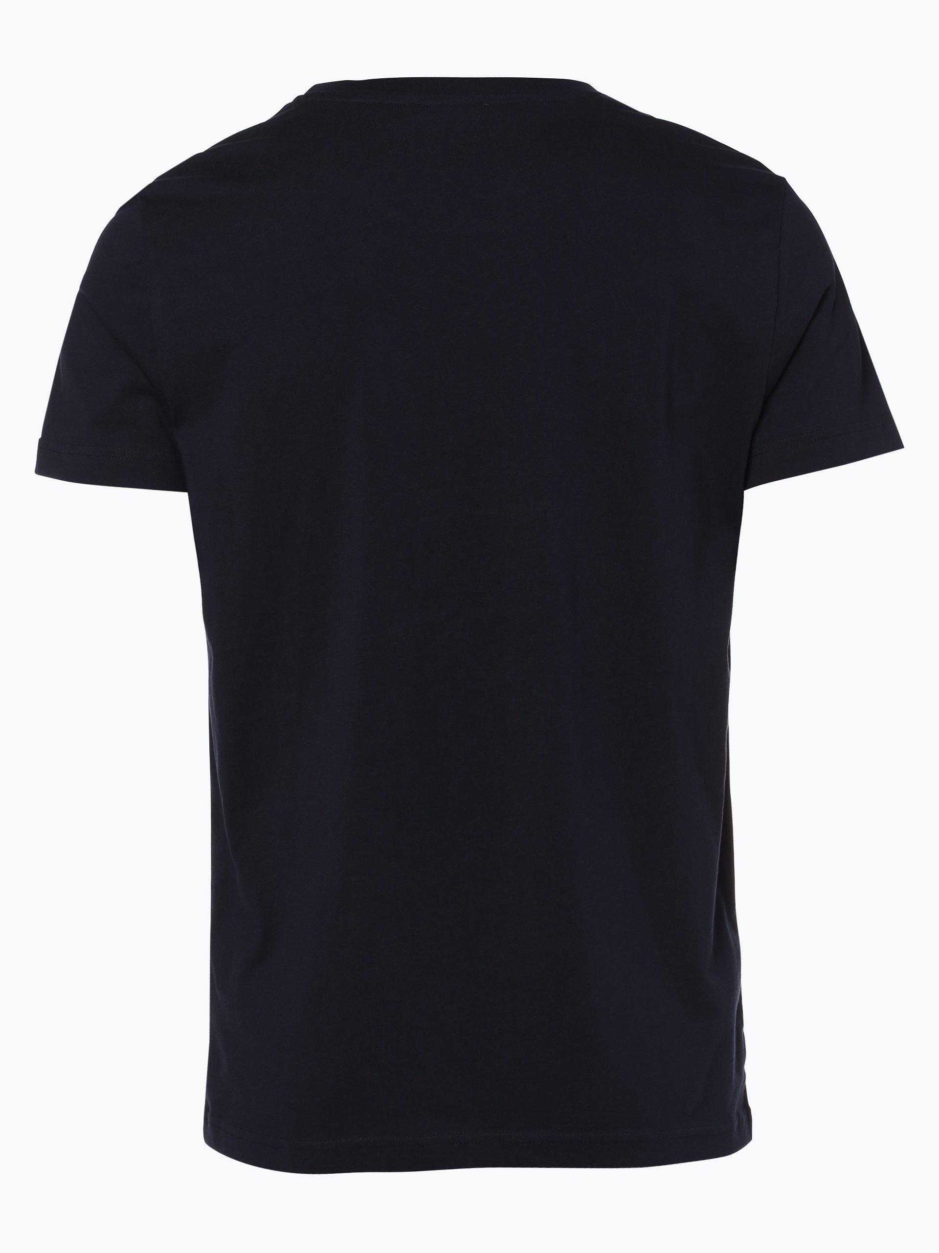 review herren t shirt marine gemustert online kaufen vangraaf com. Black Bedroom Furniture Sets. Home Design Ideas