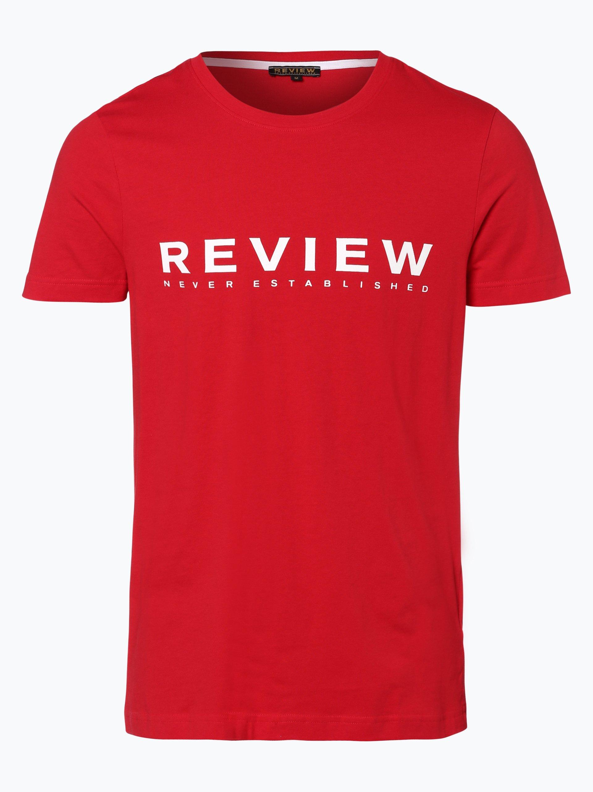review herren t shirt rot gemustert online kaufen. Black Bedroom Furniture Sets. Home Design Ideas