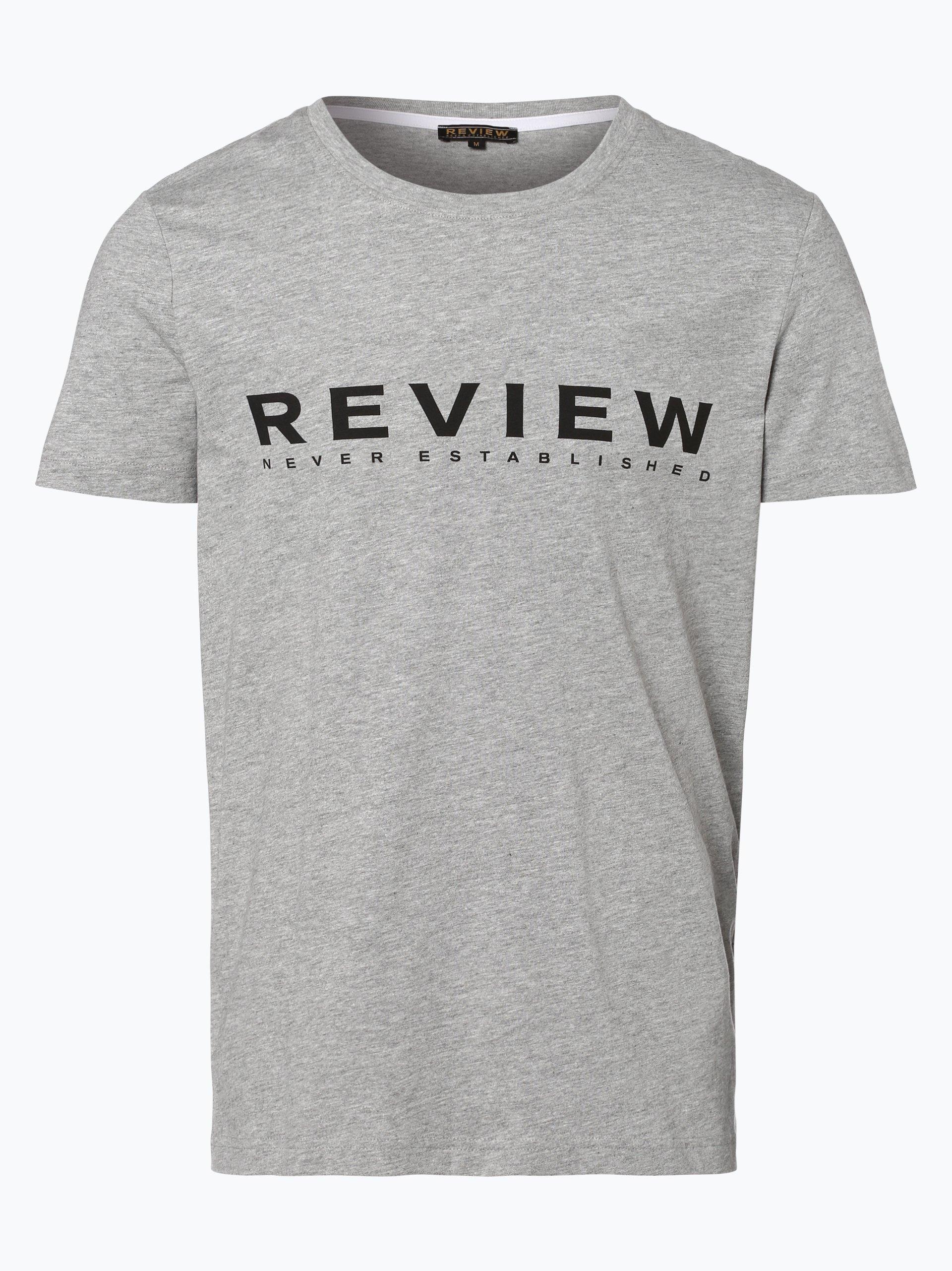review herren t shirt grau gemustert online kaufen. Black Bedroom Furniture Sets. Home Design Ideas