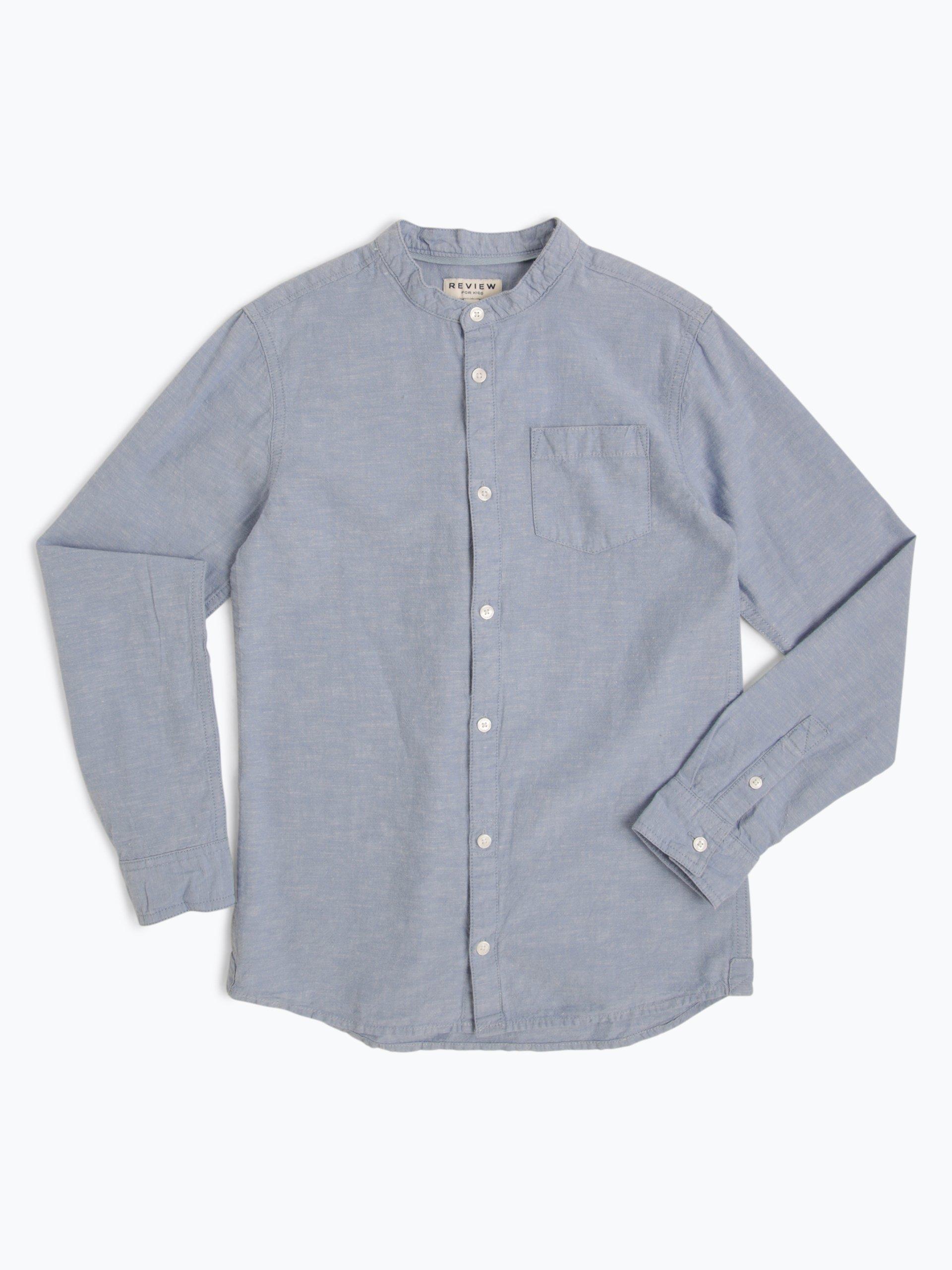 Review Jungen Hemd mit Leinen-Anteil