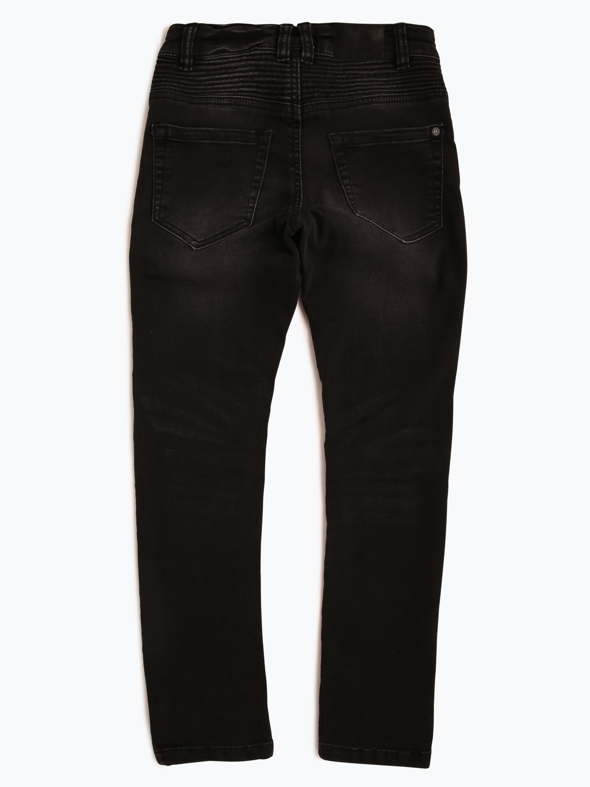 review jungen jeans slim fit schwarz uni online kaufen. Black Bedroom Furniture Sets. Home Design Ideas