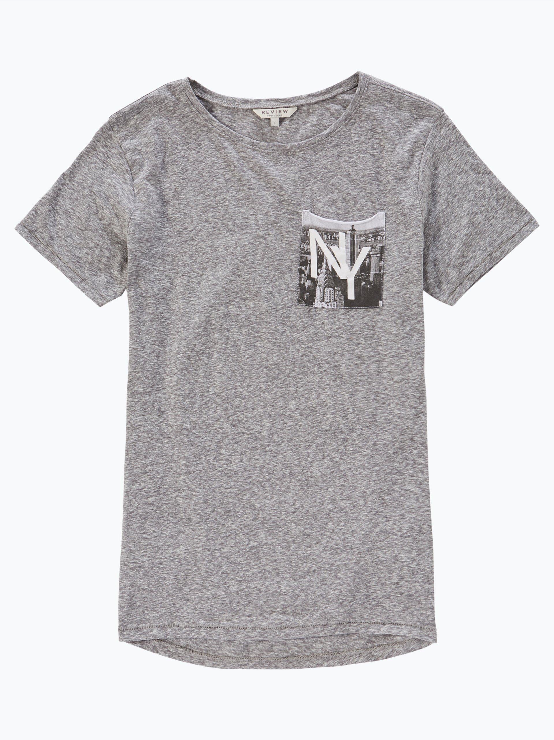 review jungen t shirt grau uni online kaufen vangraaf com. Black Bedroom Furniture Sets. Home Design Ideas