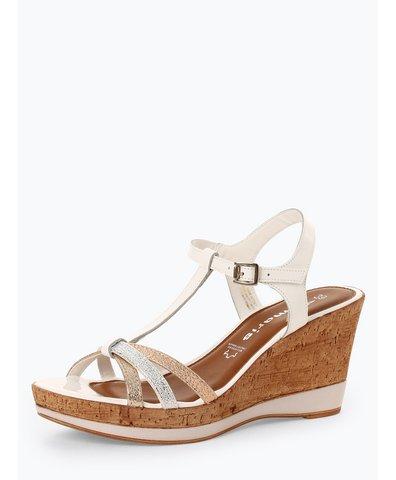 Sandały damskie z dodatkiem skóry