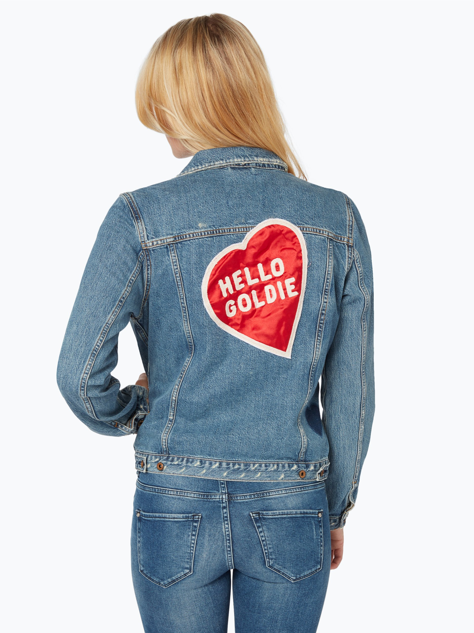 scotch soda damen jeansjacke blau uni online kaufen. Black Bedroom Furniture Sets. Home Design Ideas