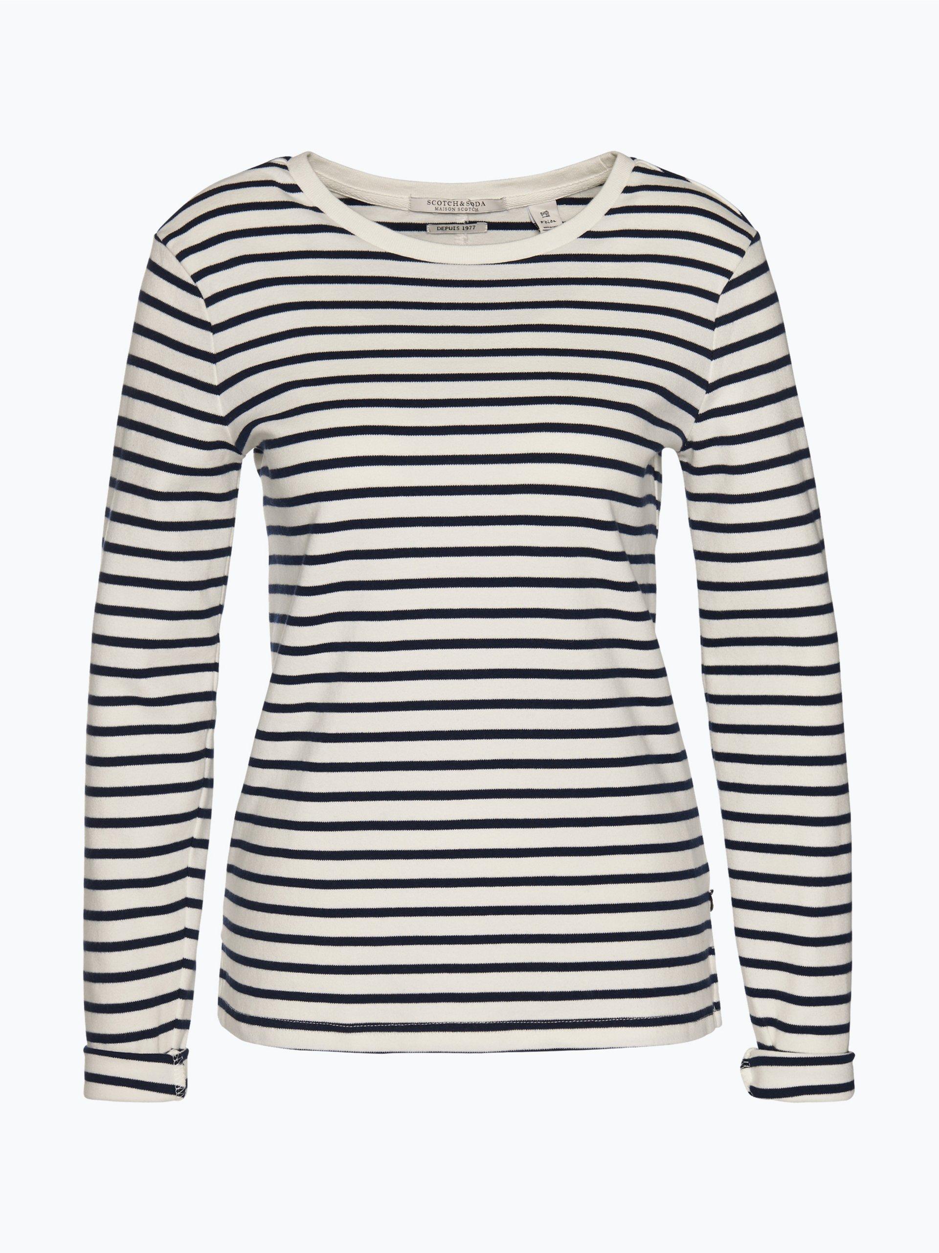 scotch soda damen sweatshirt wei uni online kaufen. Black Bedroom Furniture Sets. Home Design Ideas