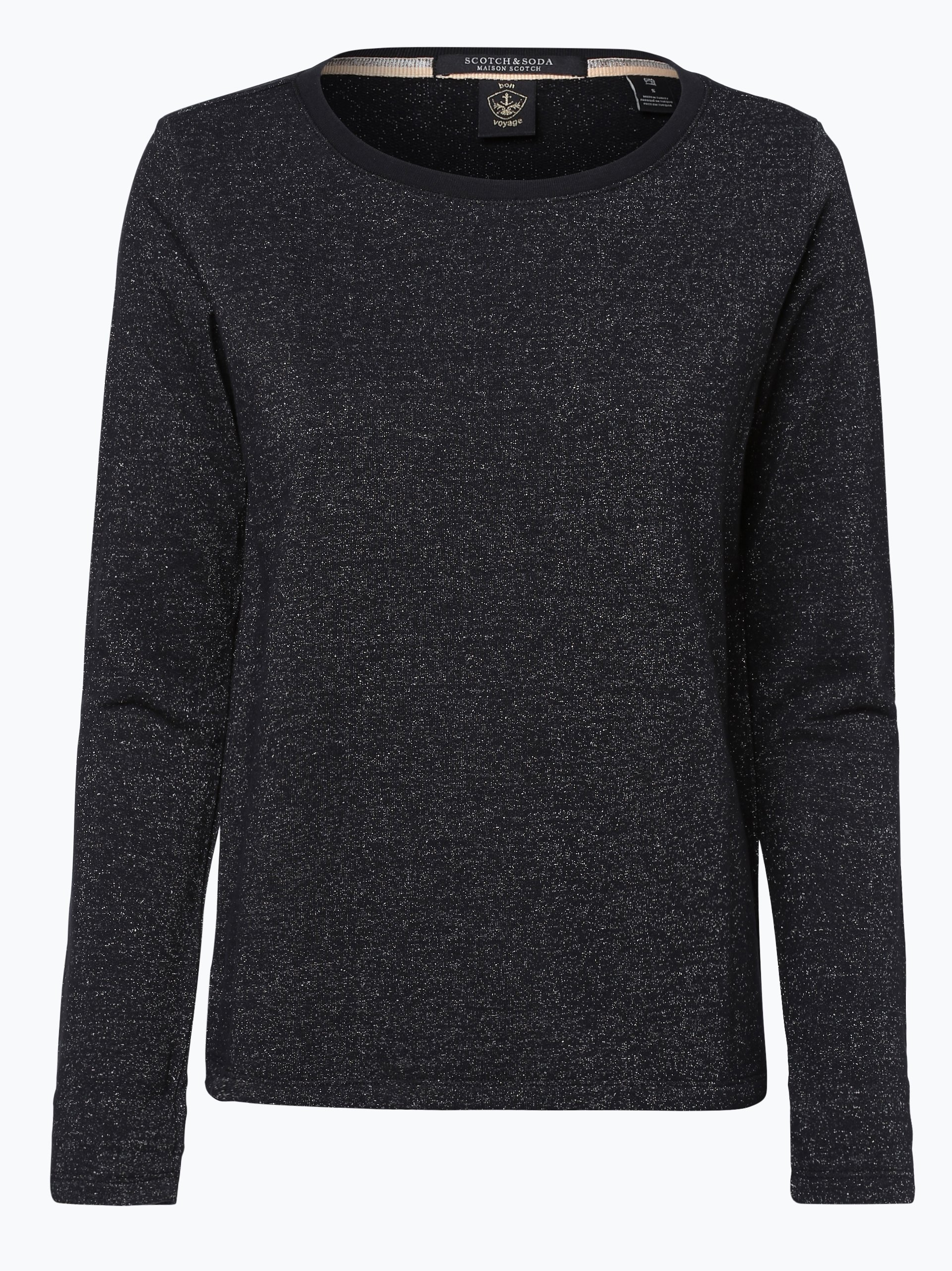 scotch soda damen sweatshirt schwarz uni online kaufen. Black Bedroom Furniture Sets. Home Design Ideas