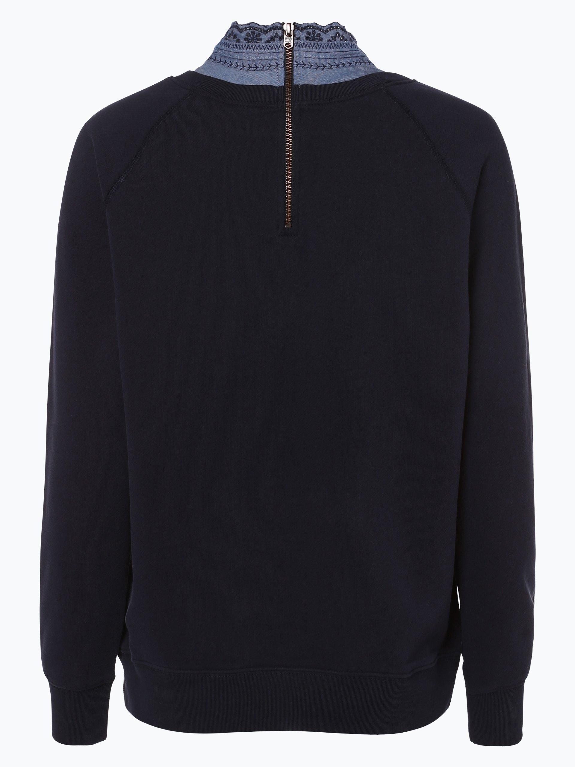 scotch soda damen sweatshirt marine gemustert online. Black Bedroom Furniture Sets. Home Design Ideas