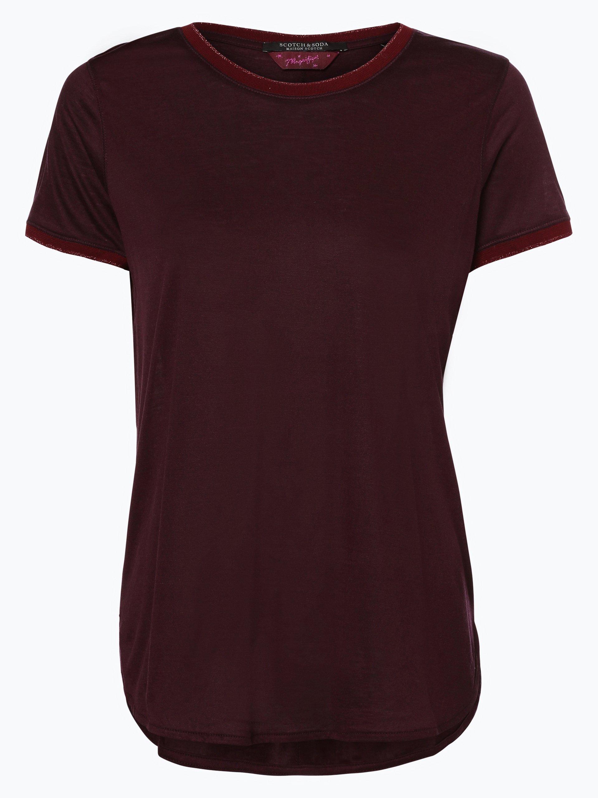 scotch soda damen t shirt bordeaux uni online kaufen. Black Bedroom Furniture Sets. Home Design Ideas