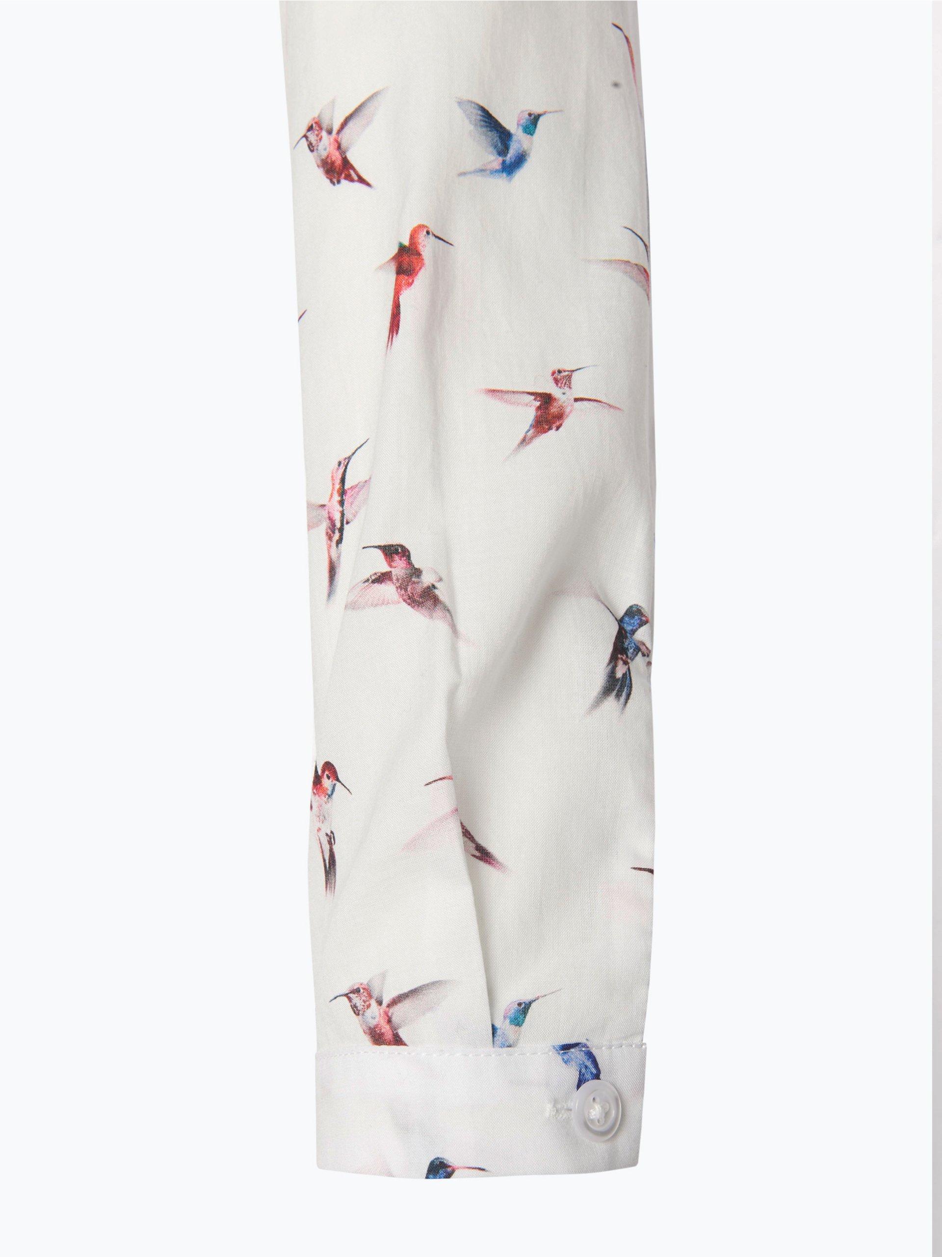 seidensticker schwarze rose damen bluse wei gemustert online kaufen vangraaf com. Black Bedroom Furniture Sets. Home Design Ideas