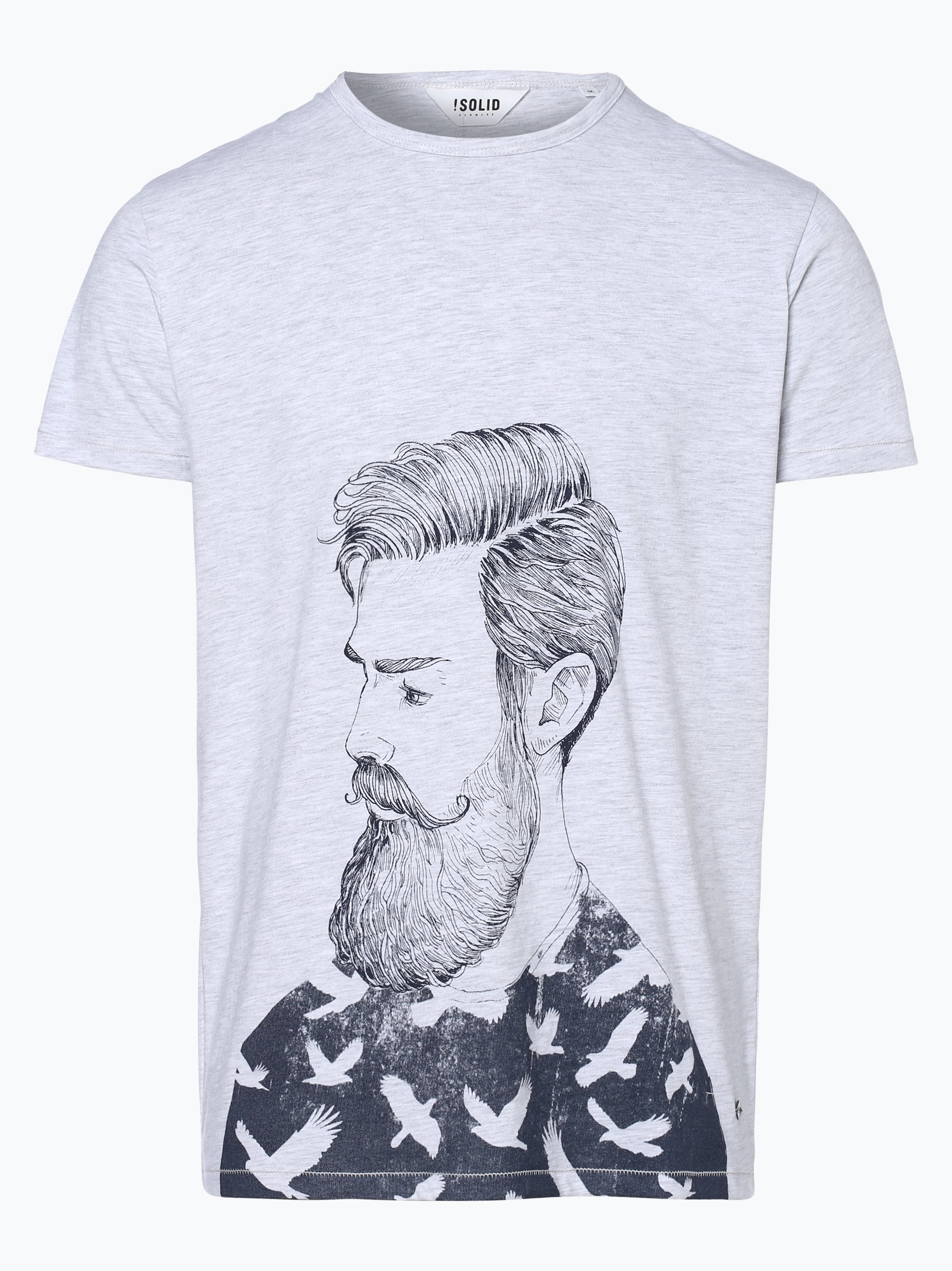 Solid T-shirt męski – Magee