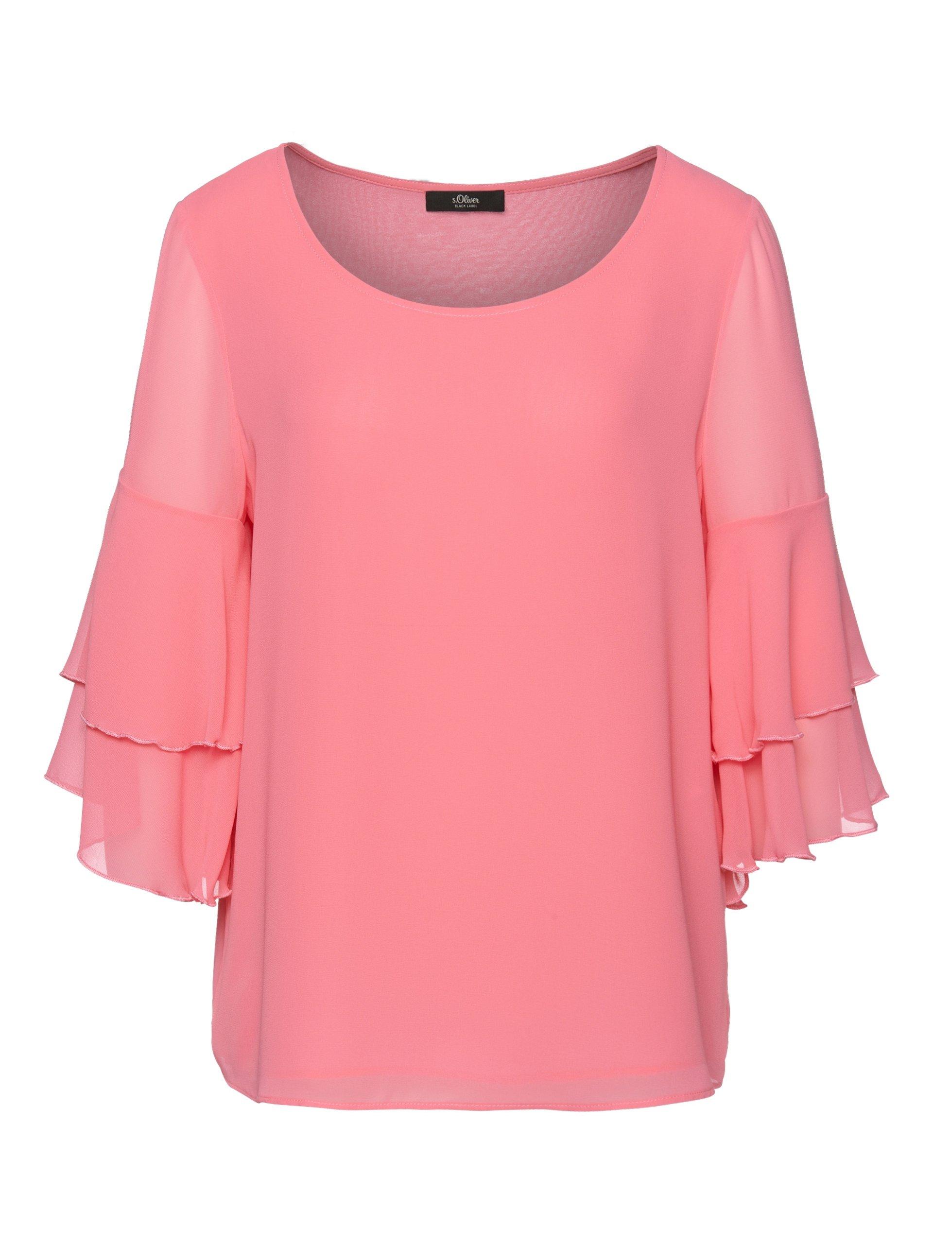 s oliver black label damen bluse rosa uni online kaufen peek und cloppenburg de. Black Bedroom Furniture Sets. Home Design Ideas