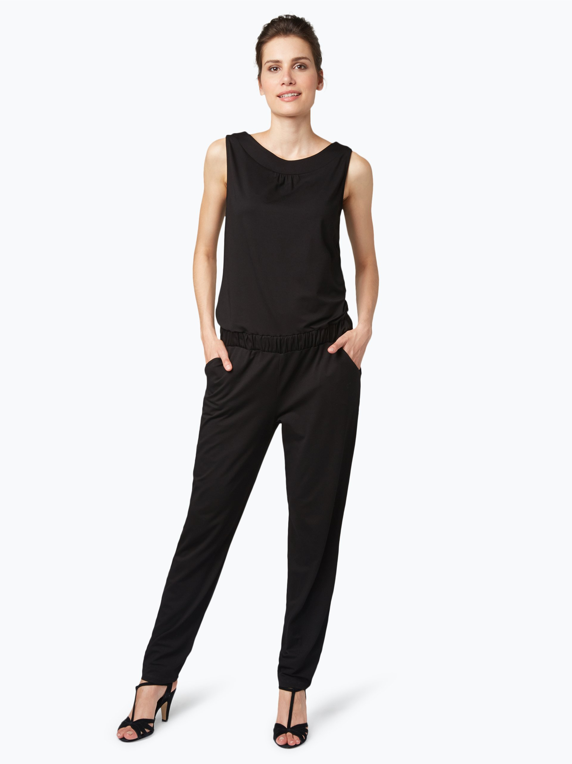 s oliver black label damen jumpsuit schwarz uni online. Black Bedroom Furniture Sets. Home Design Ideas