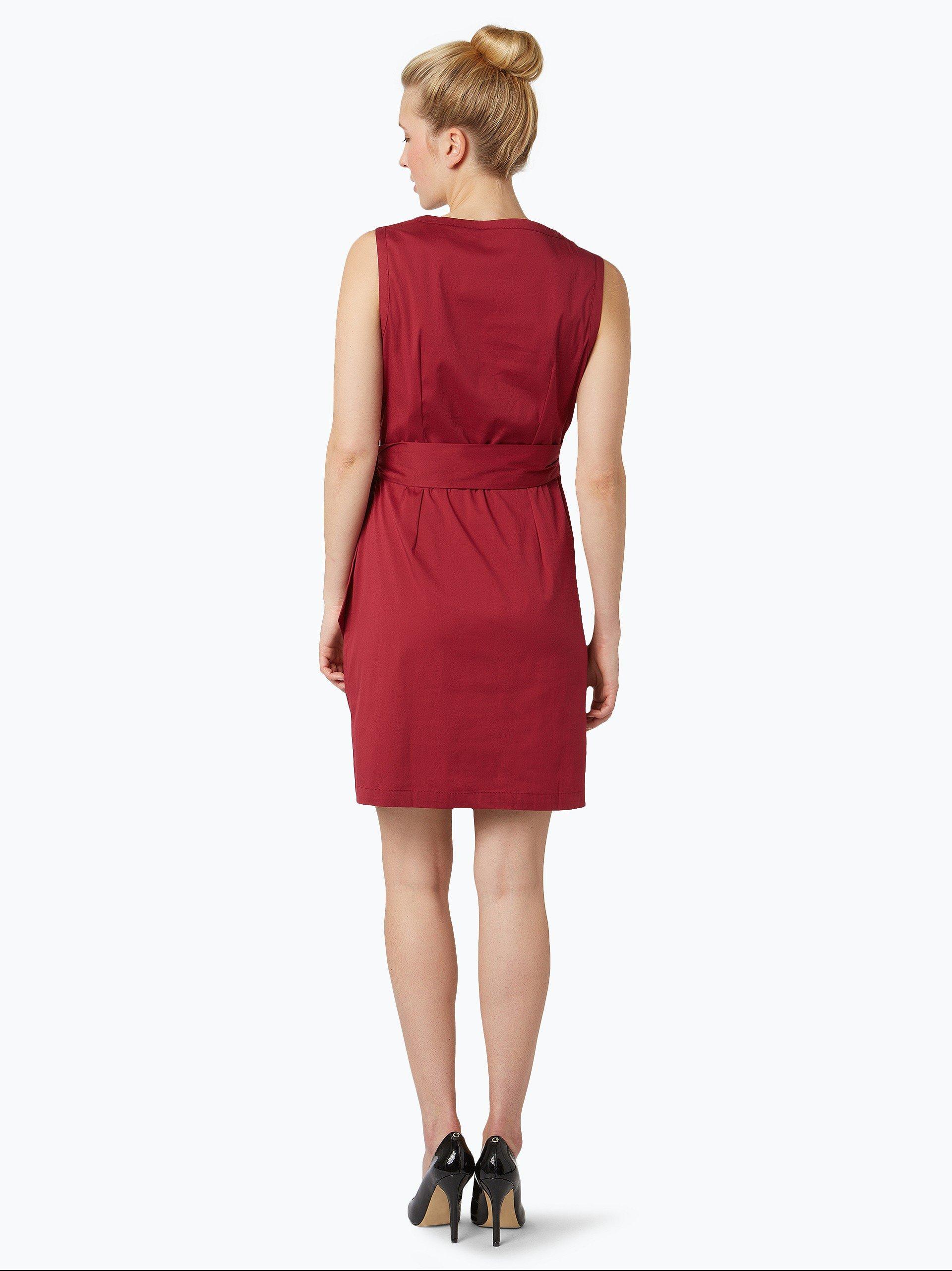 s oliver black label damen kleid rot uni online kaufen. Black Bedroom Furniture Sets. Home Design Ideas