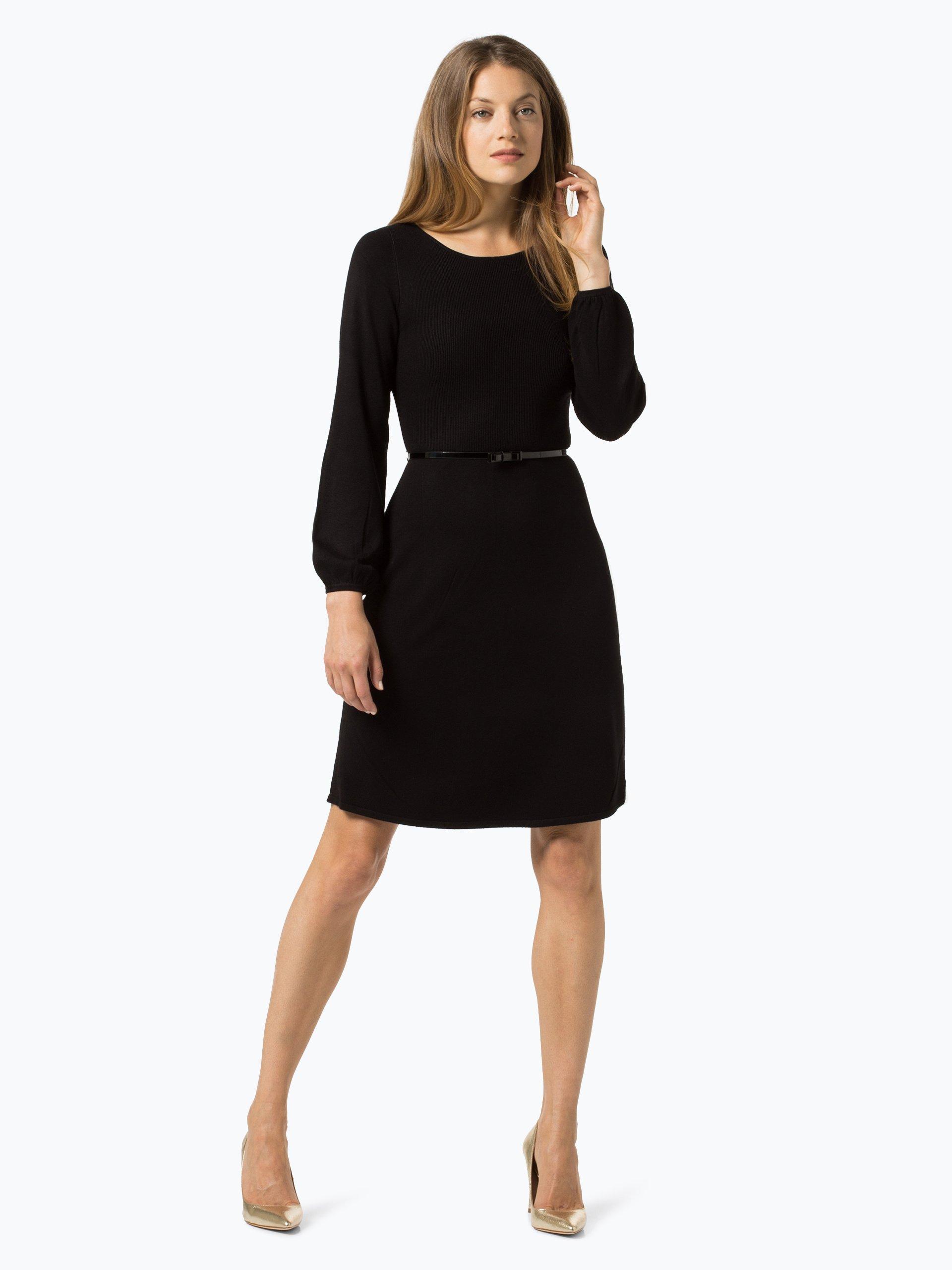 s oliver black label damen kleid schwarz uni online kaufen. Black Bedroom Furniture Sets. Home Design Ideas