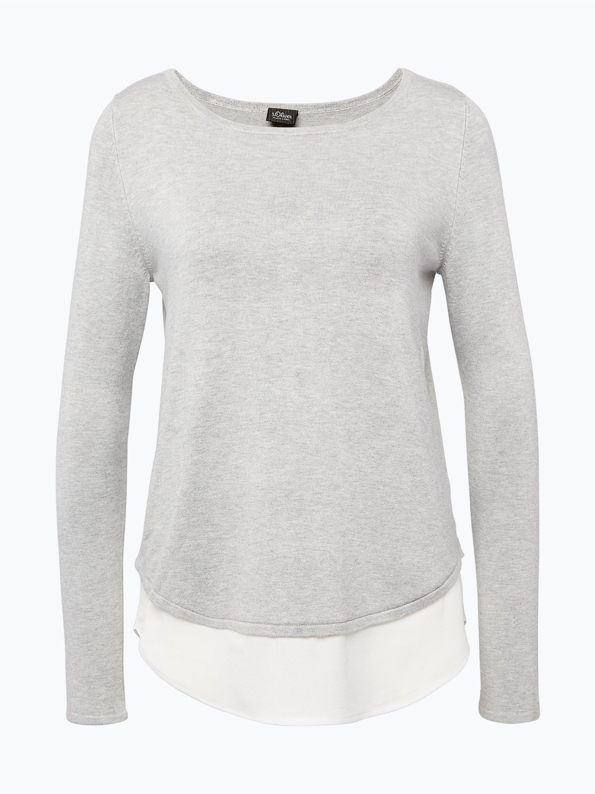 s oliver black label damen pullover grau uni online kaufen. Black Bedroom Furniture Sets. Home Design Ideas