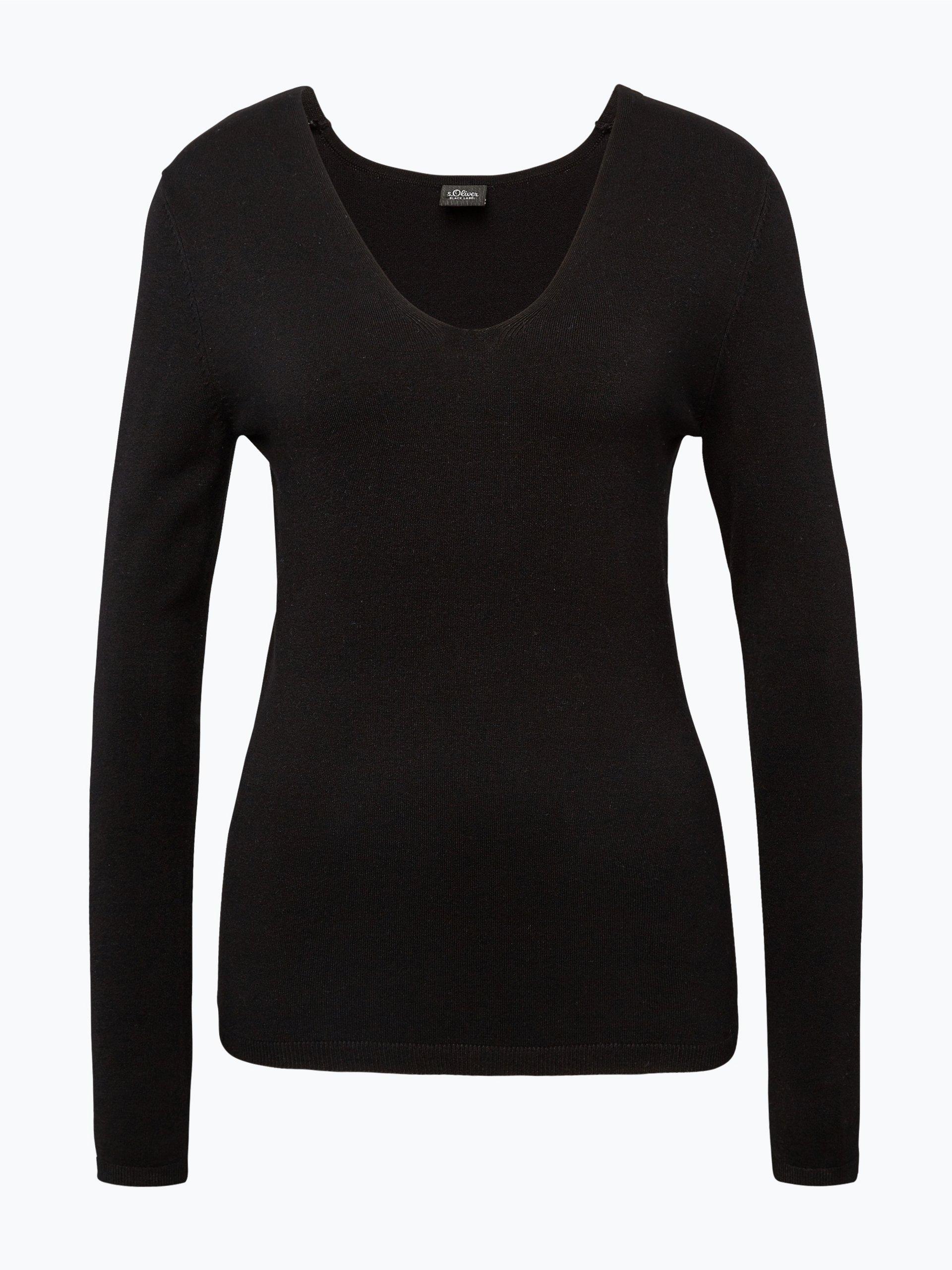 s oliver black label damen pullover schwarz uni online. Black Bedroom Furniture Sets. Home Design Ideas