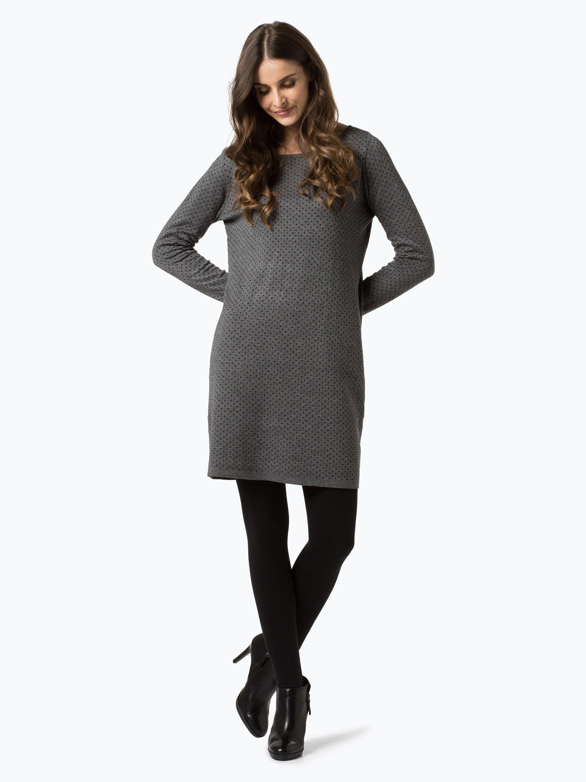 s oliver casual damen kleid anthrazit gepunktet online kaufen vangraaf com. Black Bedroom Furniture Sets. Home Design Ideas