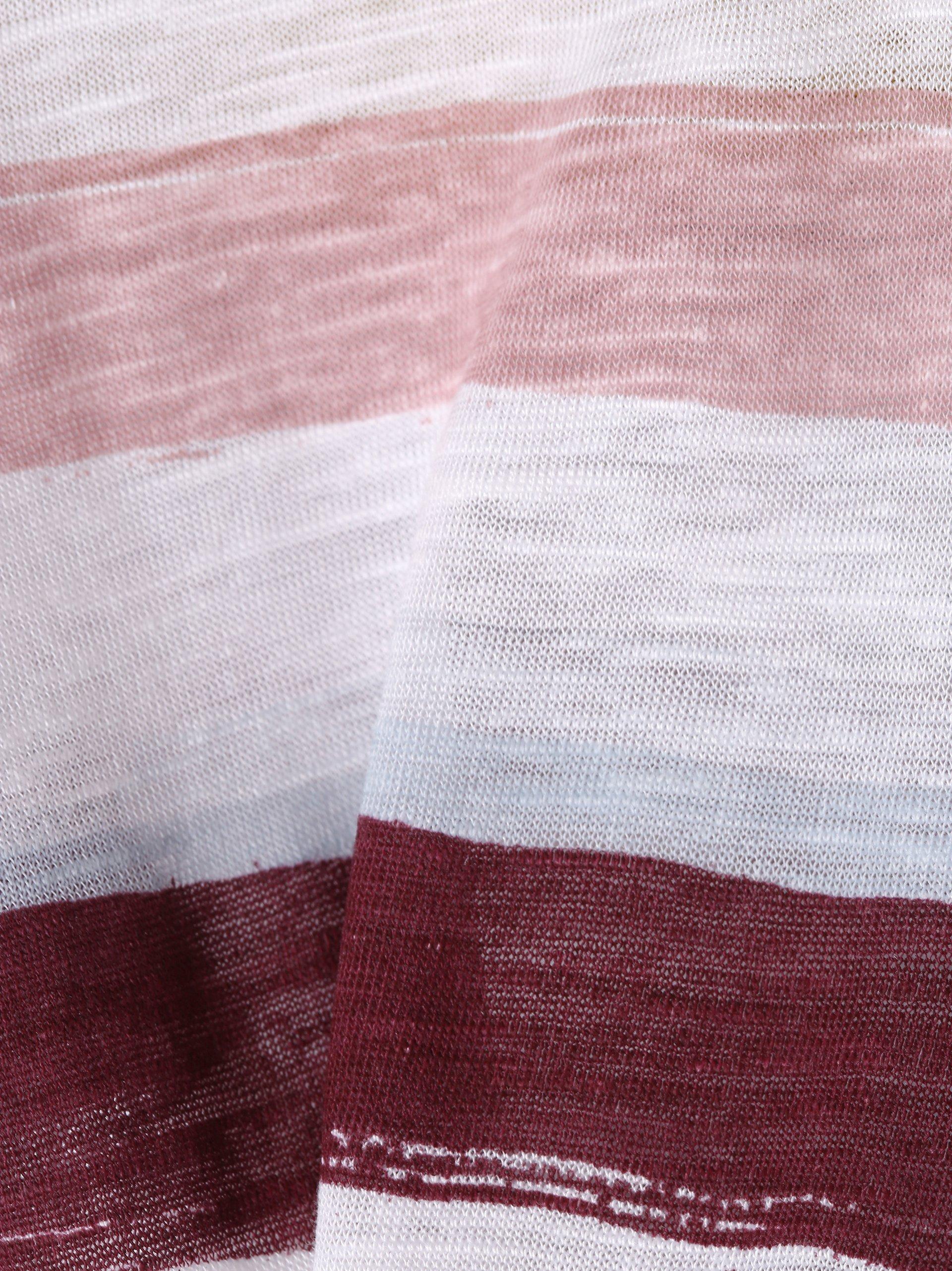 s.Oliver Casual Damen T-Shirt mit Leinen-Anteil