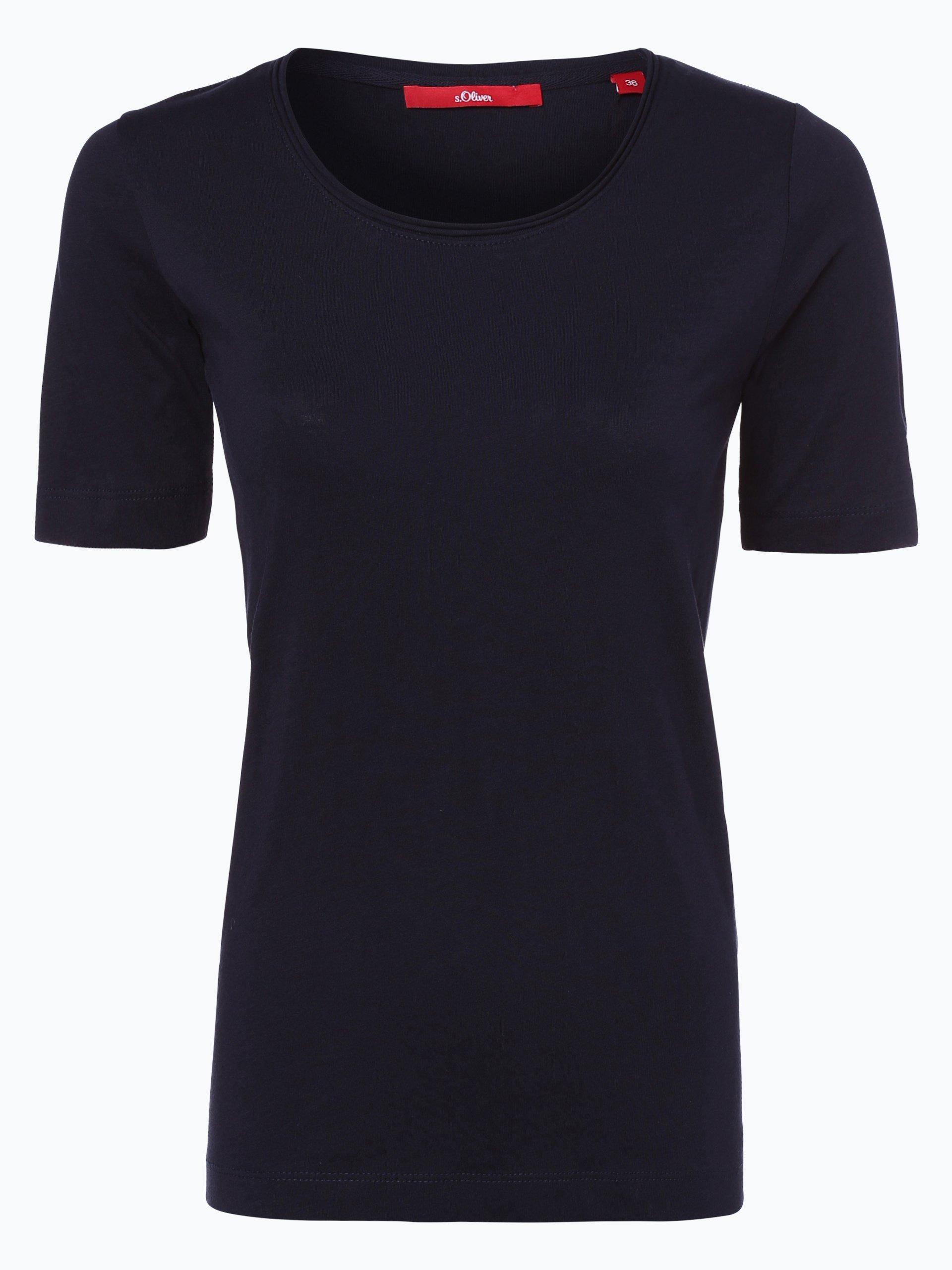 s oliver casual damen t shirt marine uni online kaufen. Black Bedroom Furniture Sets. Home Design Ideas