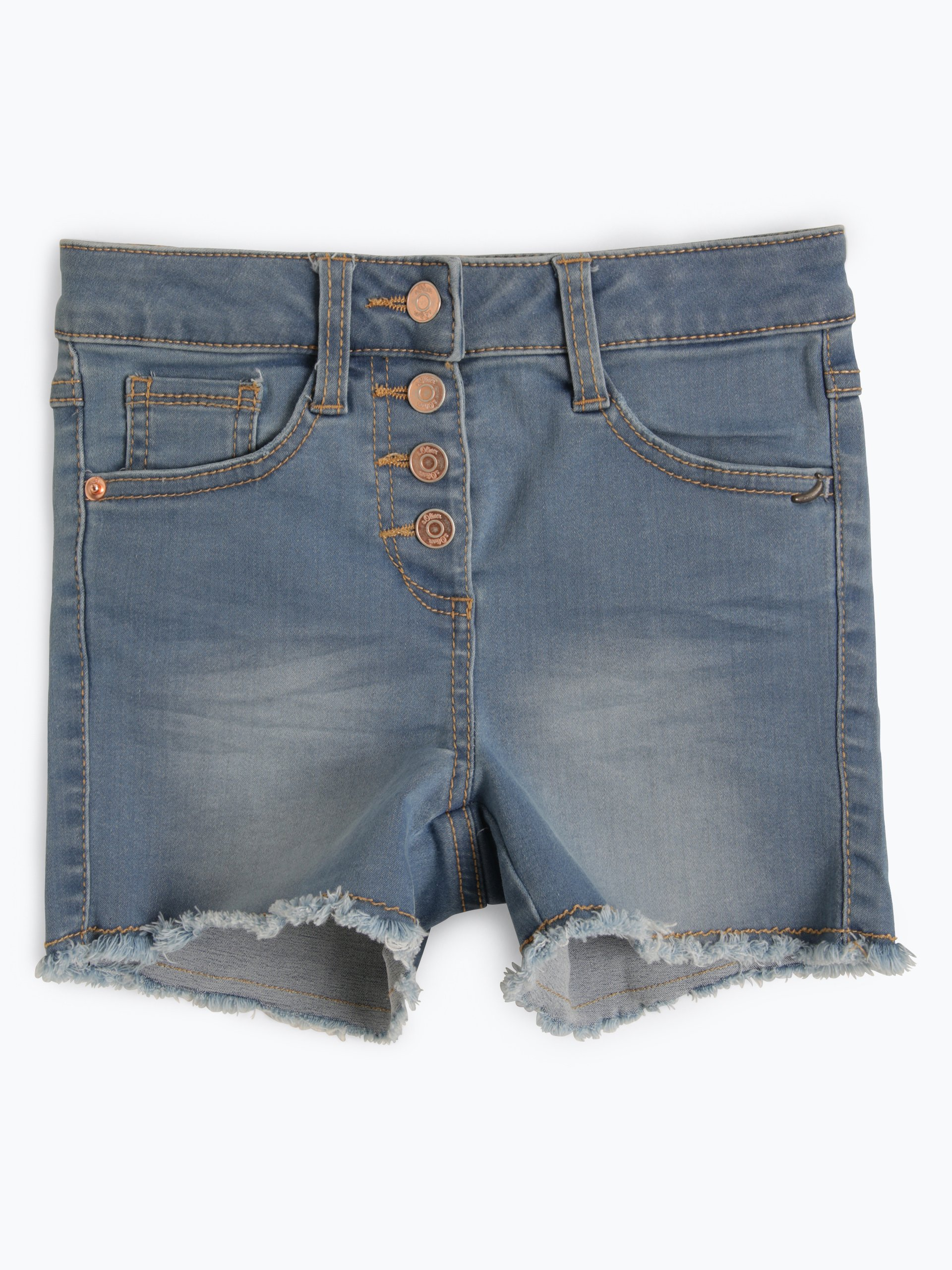 s.Oliver Casual Mädchen Jeansshorts Slim Fit - Skinny Suri