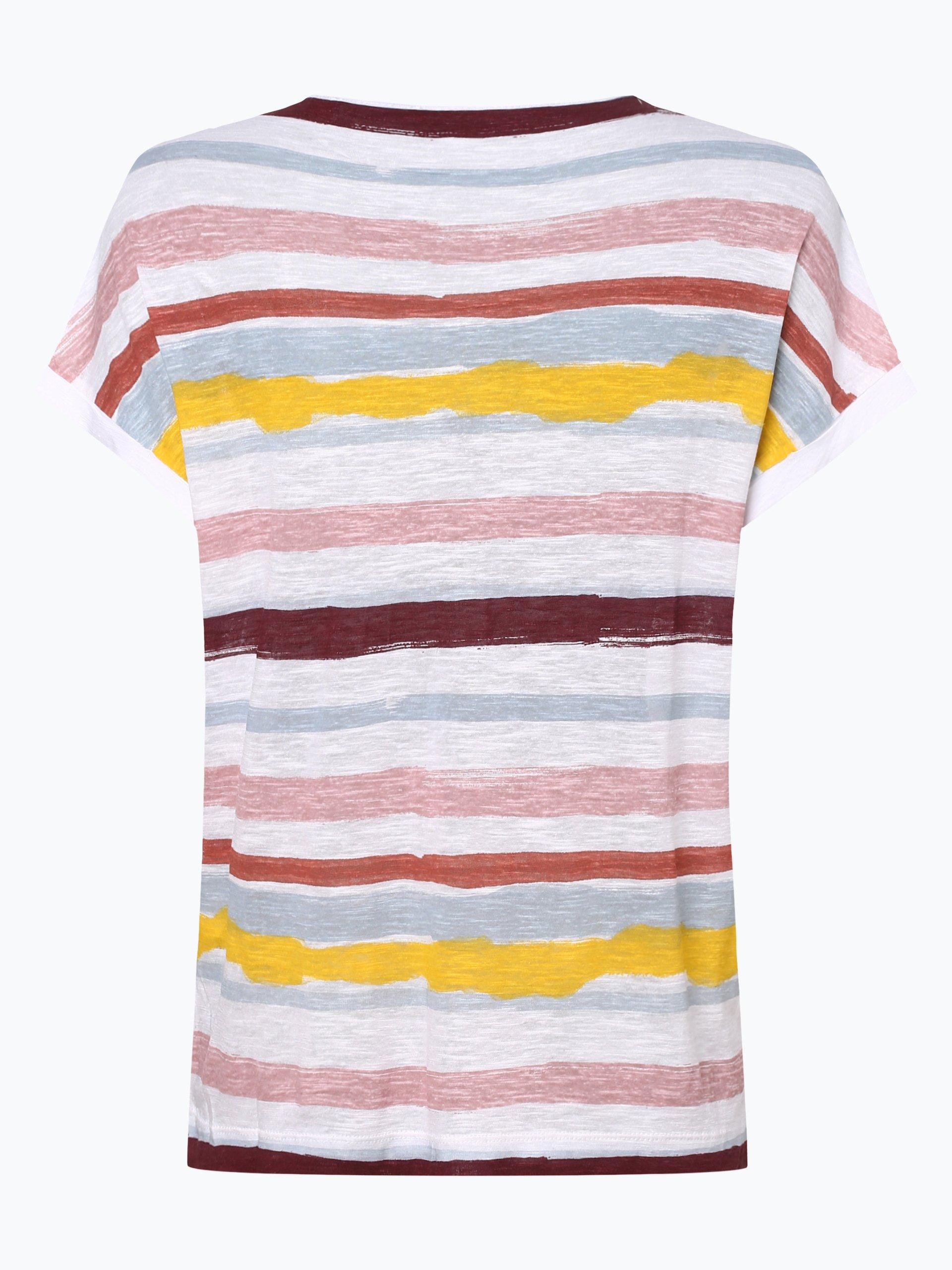 s.Oliver T-shirt damski z dodatkiem lnu