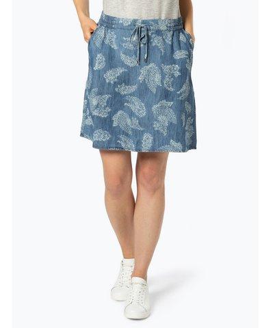 Spódnica damska z dodatkiem lnu
